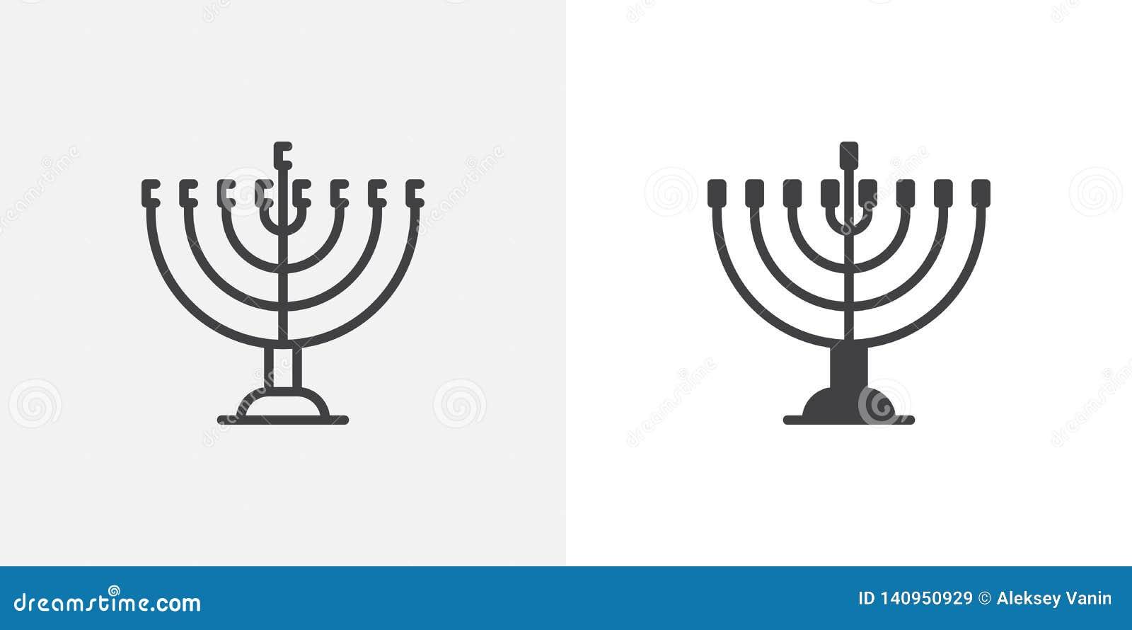 Icône de menorah de Hanoucca