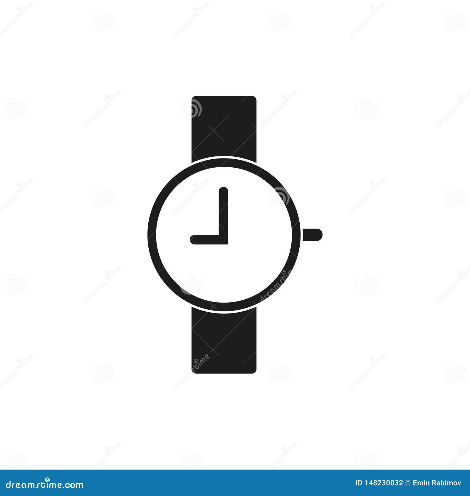 Icône de montre-bracelet, neuf heures
