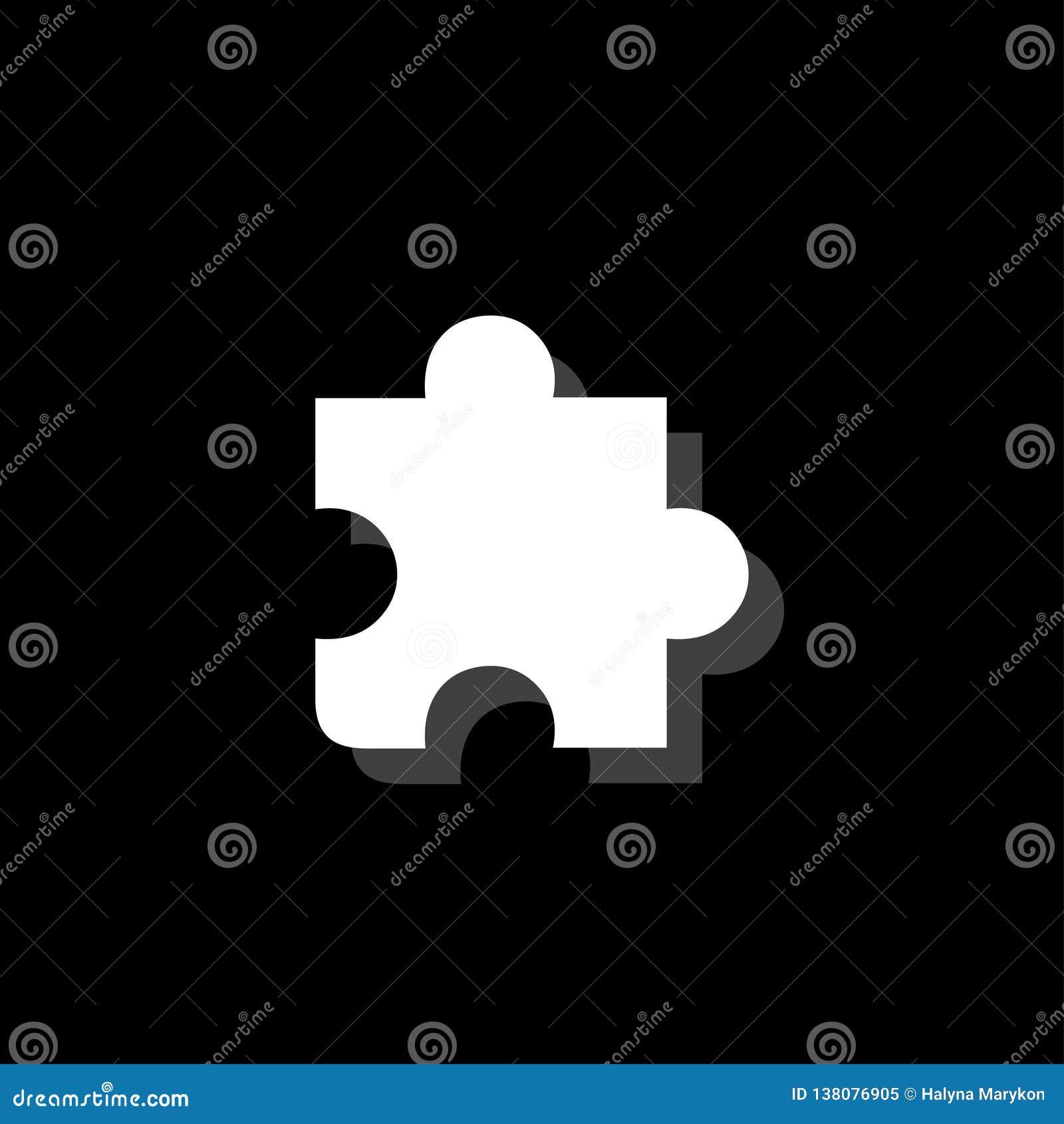 Icône de morceau de puzzle à plat