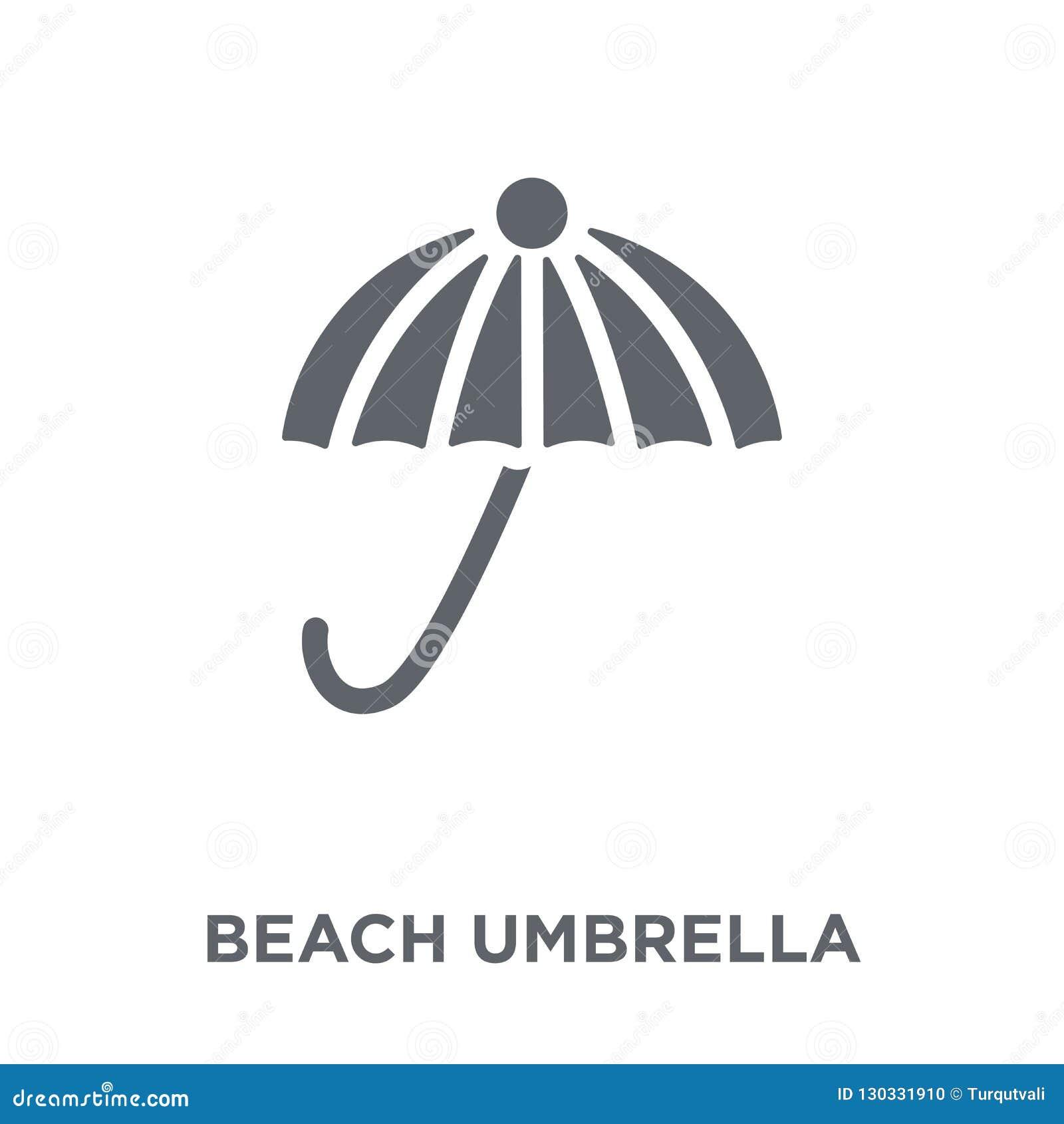 Icône de parapluie de plage de collection