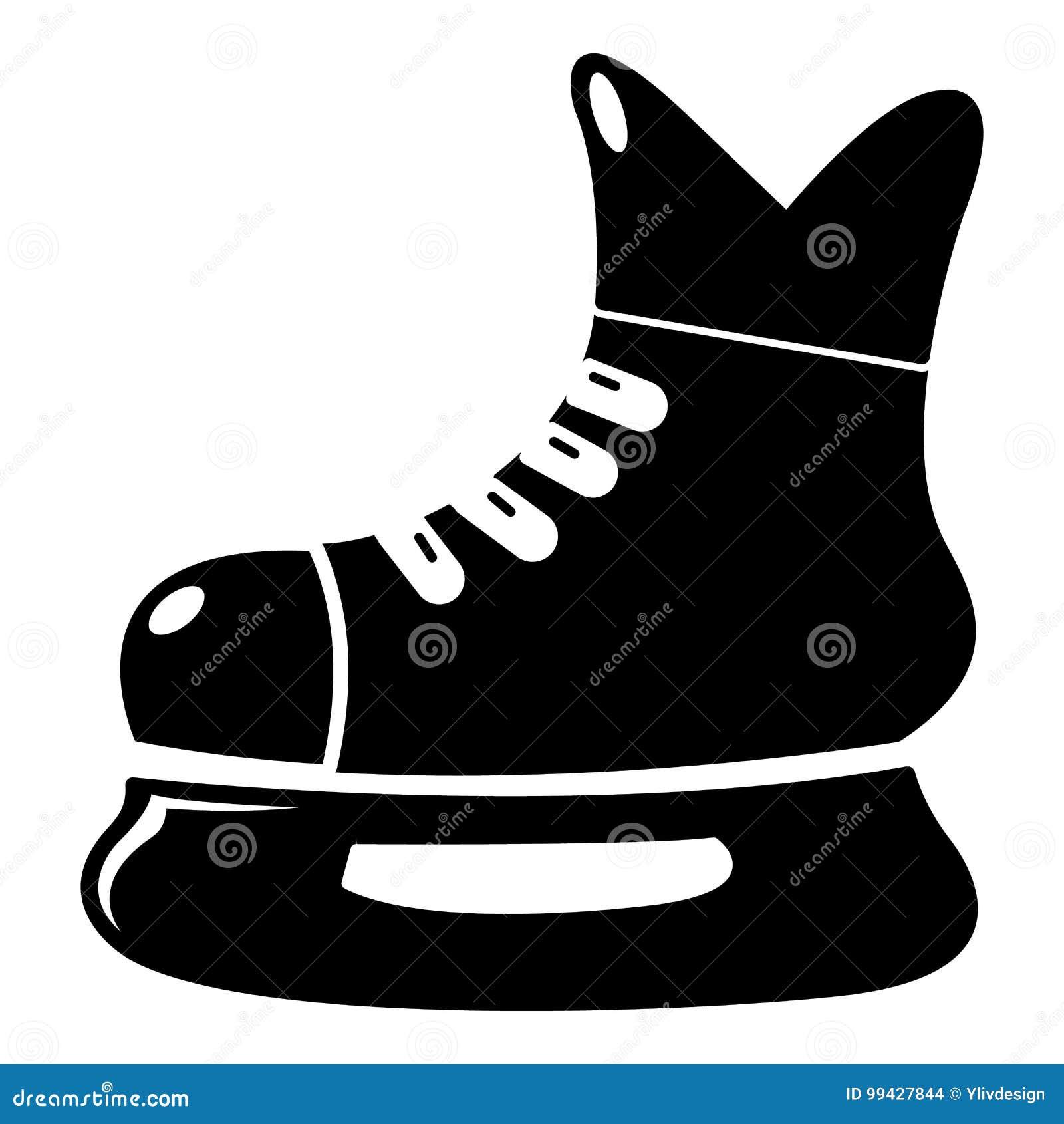 ic ne de patin de hockey sur glace style simple. Black Bedroom Furniture Sets. Home Design Ideas
