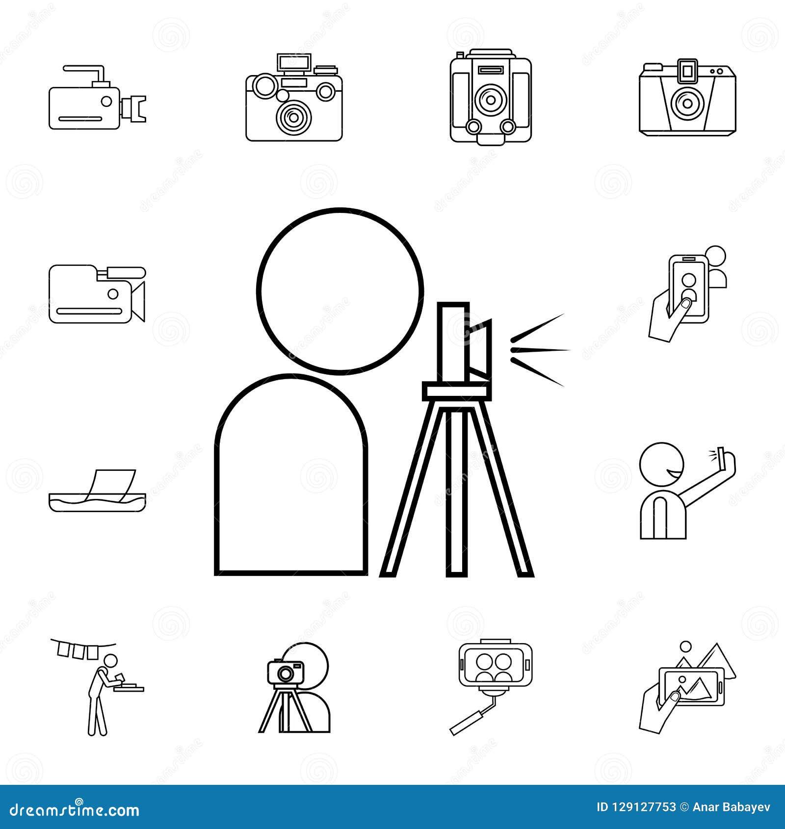 Meilleur Site Pour Photographe icône de photographe ensemble détaillé d'icônes d'appareil