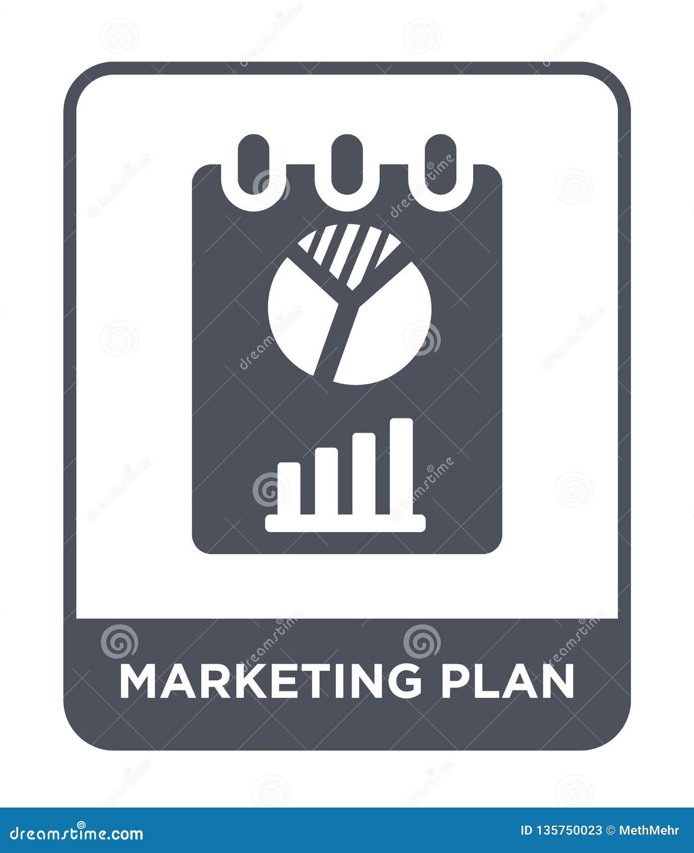 Icône de plan marketing dans le style à la mode de conception icône de plan marketing d isolement sur le fond blanc icône de vect