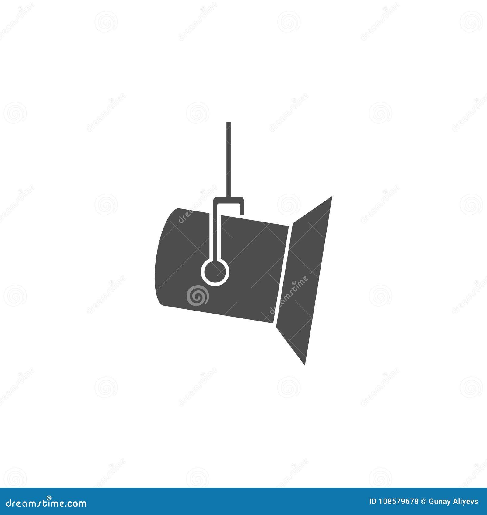 Icône de projecteur de studio Icône d élément de cinéma Conception graphique de qualité de la meilleure qualité Signes, icône de