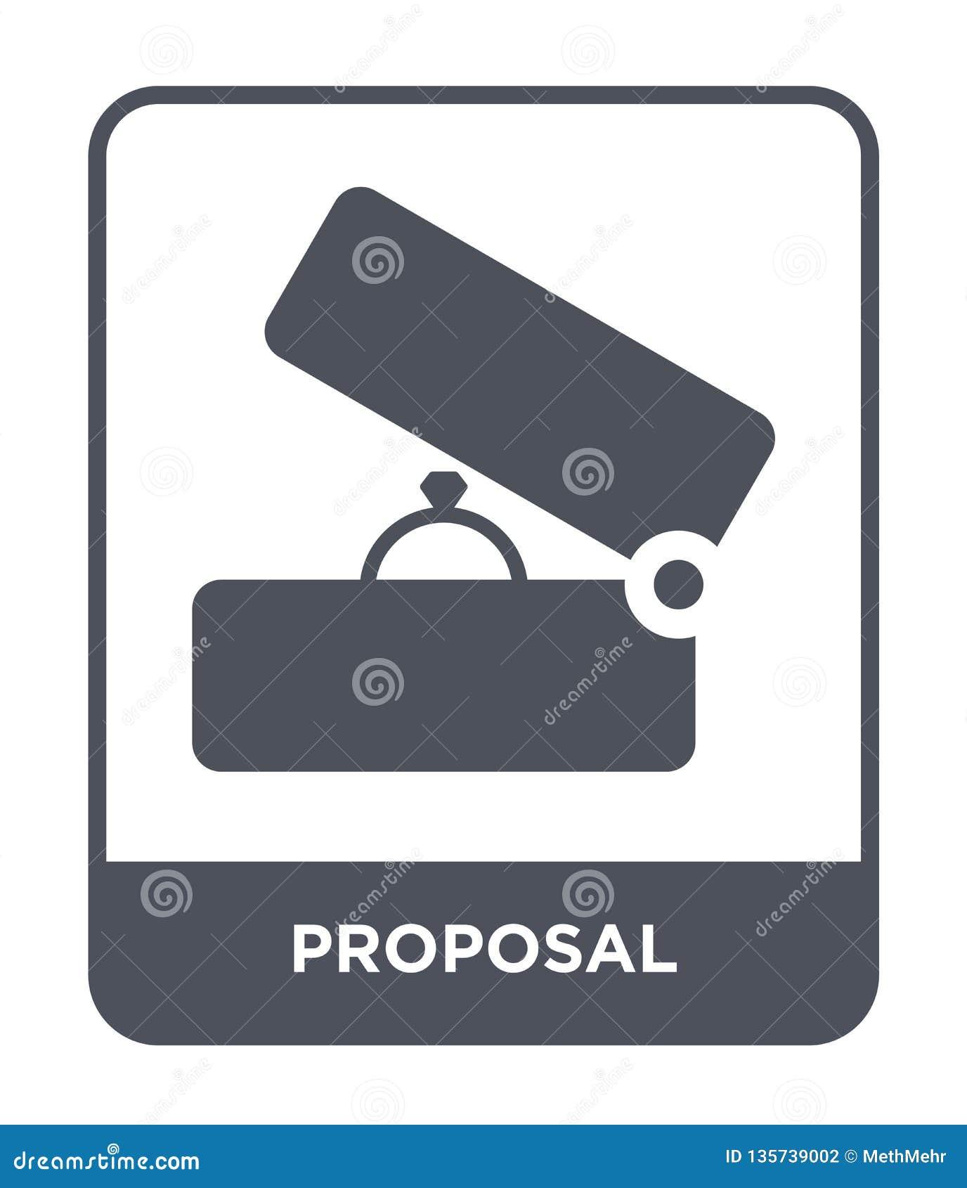 Icône de proposition dans le style à la mode de conception icône de proposition d isolement sur le fond blanc appartement simple
