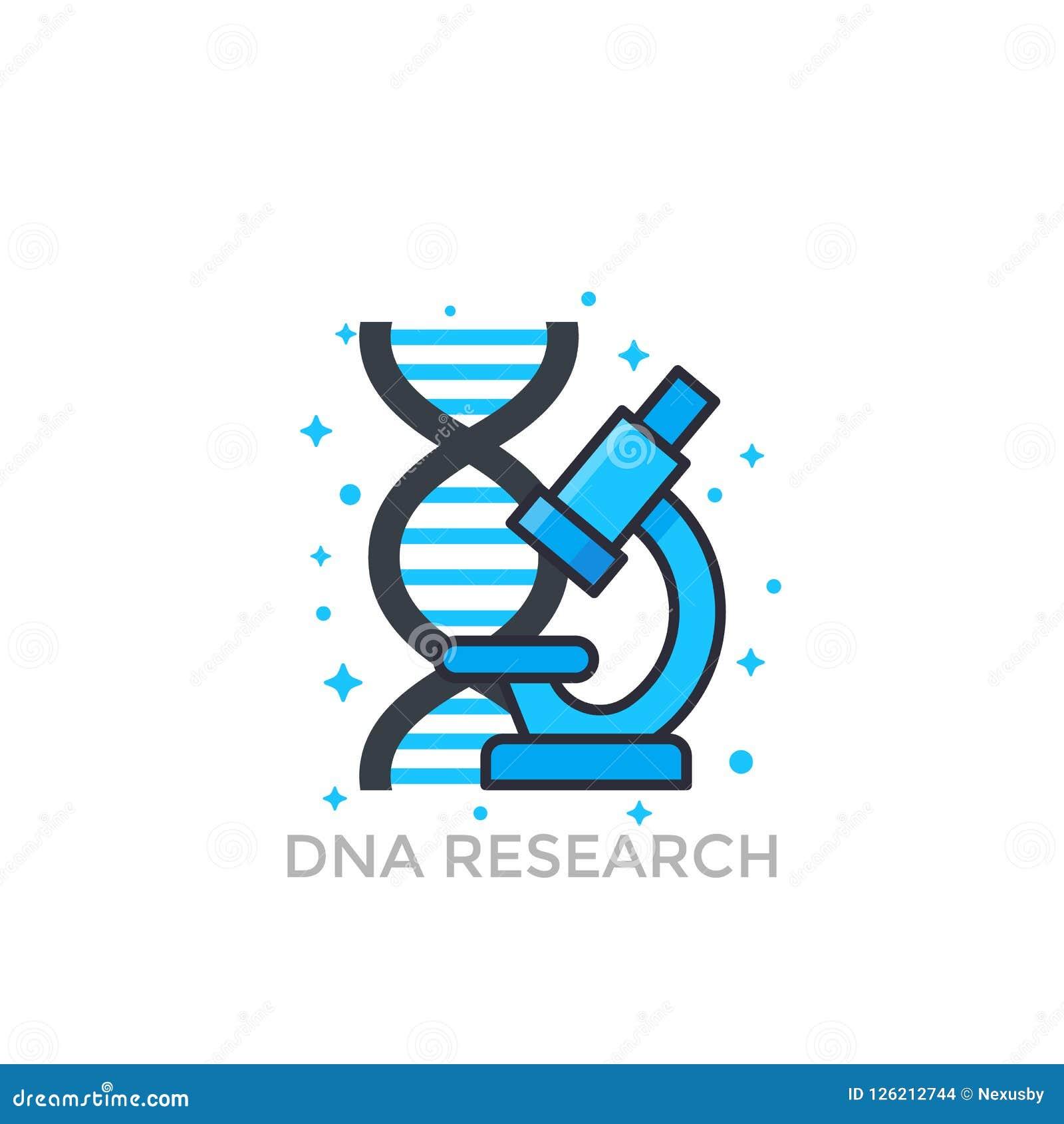 Icône de recherches d ADN