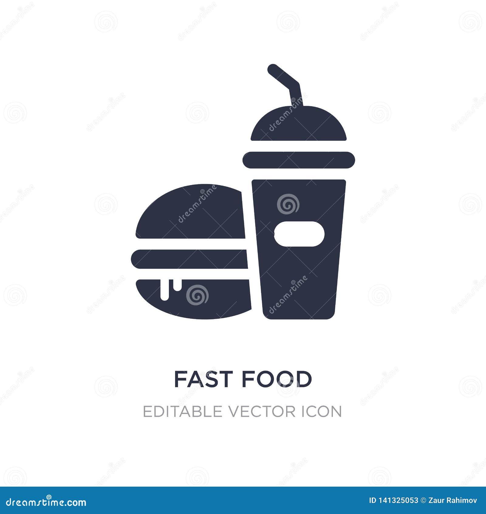 Icône de restaurant d aliments de préparation rapide sur le fond blanc Illustration simple d élément de concept de nourriture