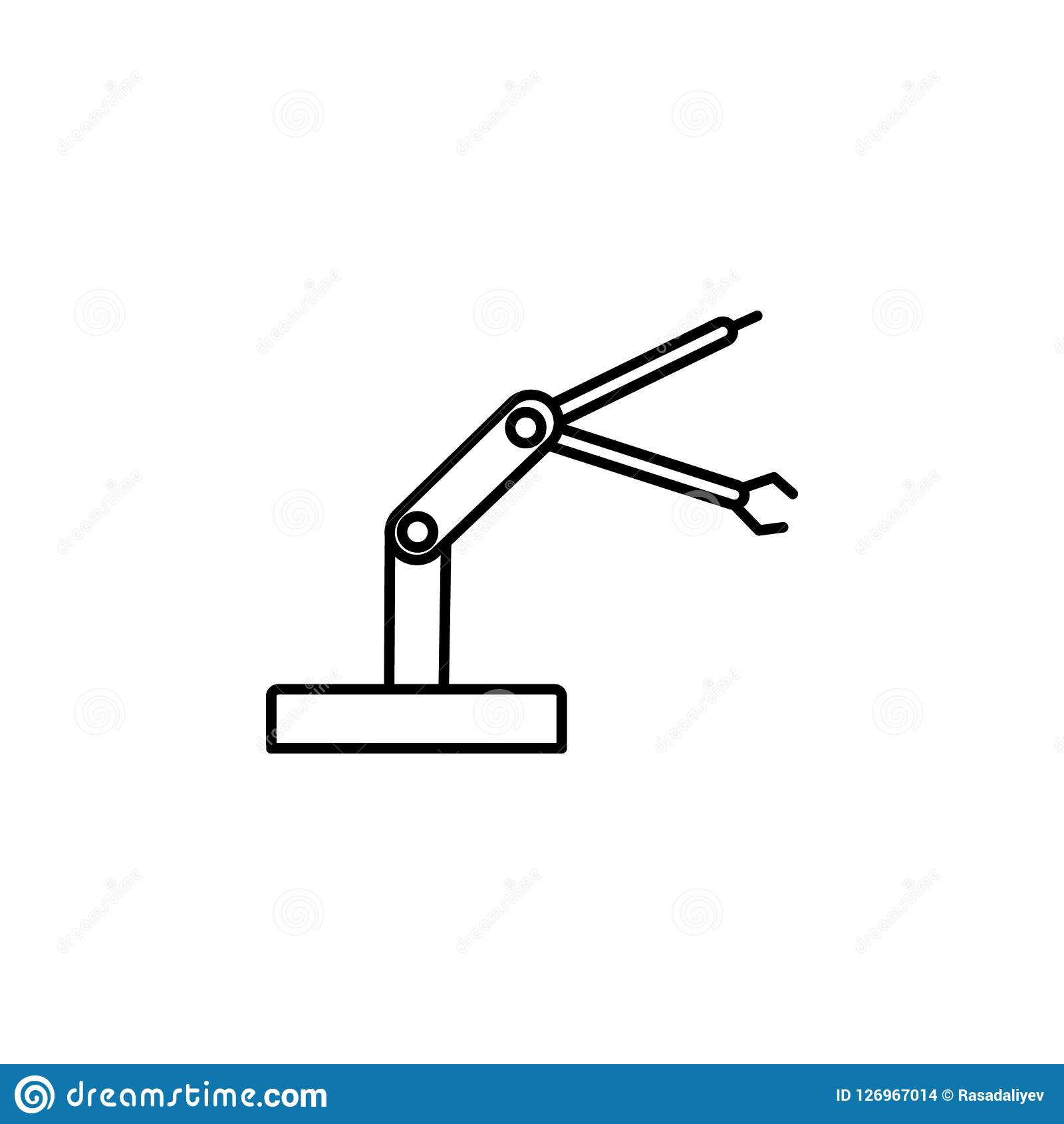 Icône de robot industriel de bras de robot Élément de la future icône de technologie pour les apps mobiles de concept et de Web L