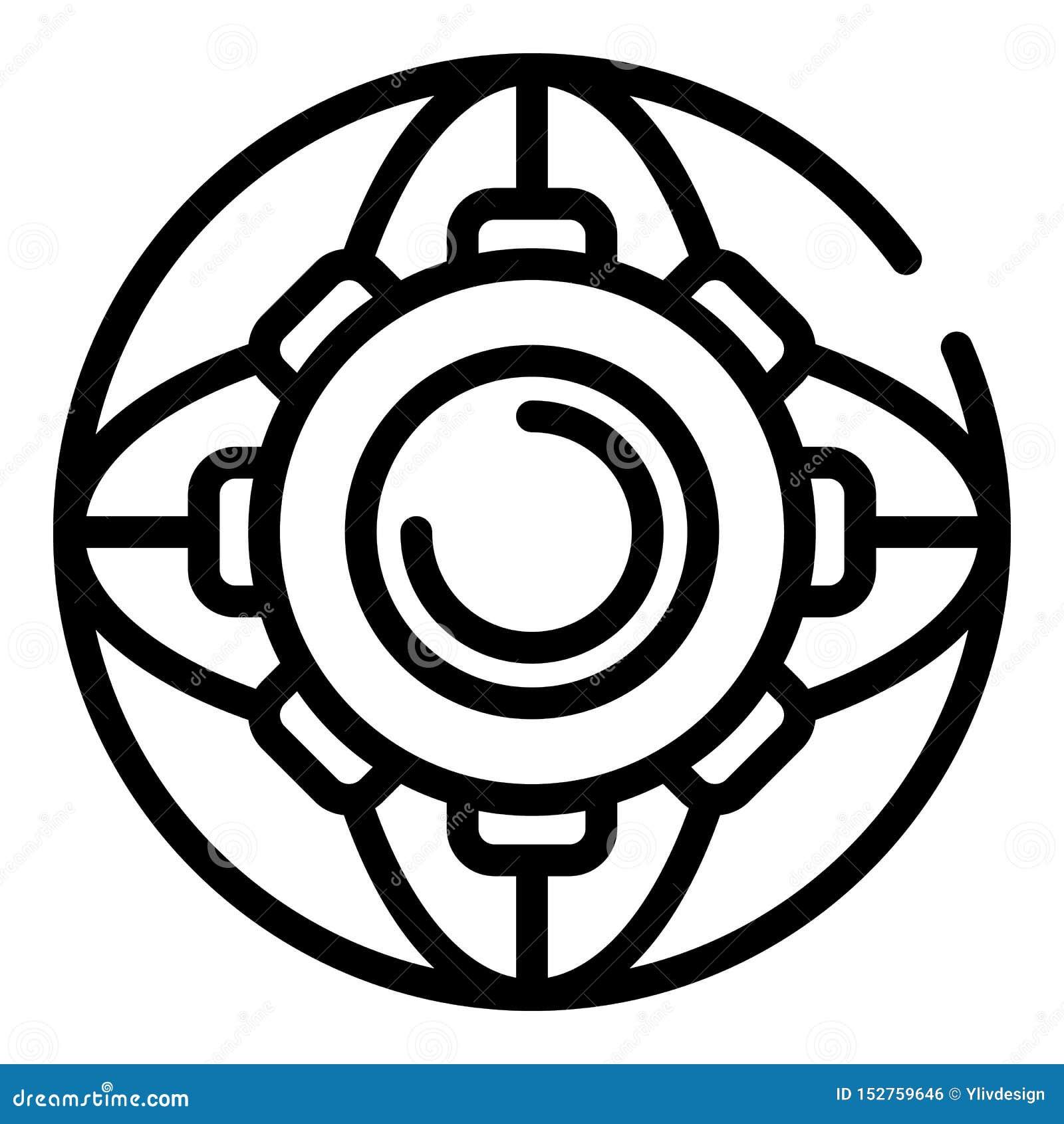 Icône de roue de vitesse, style d ensemble