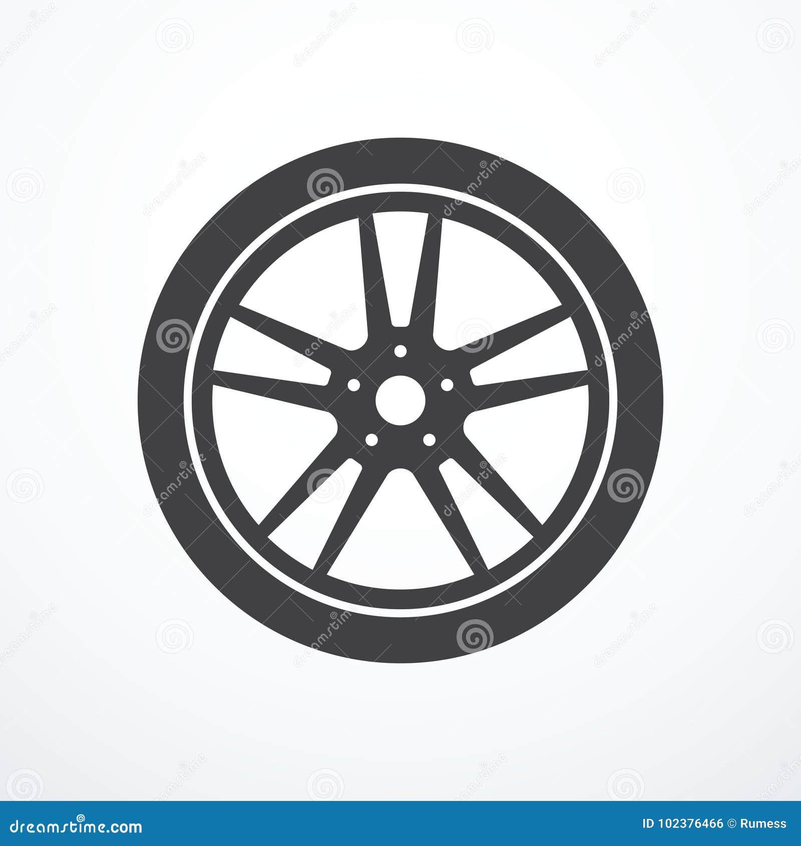 Icône de roue de voiture de vecteur