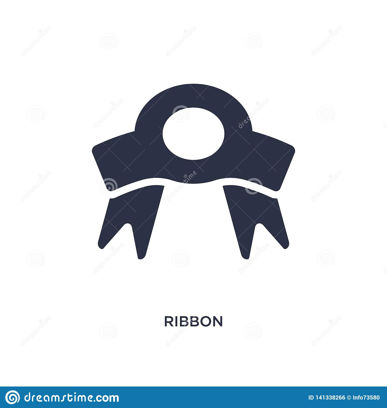 Icône de ruban sur le fond blanc Illustration simple d élément de concept de service à la clientèle