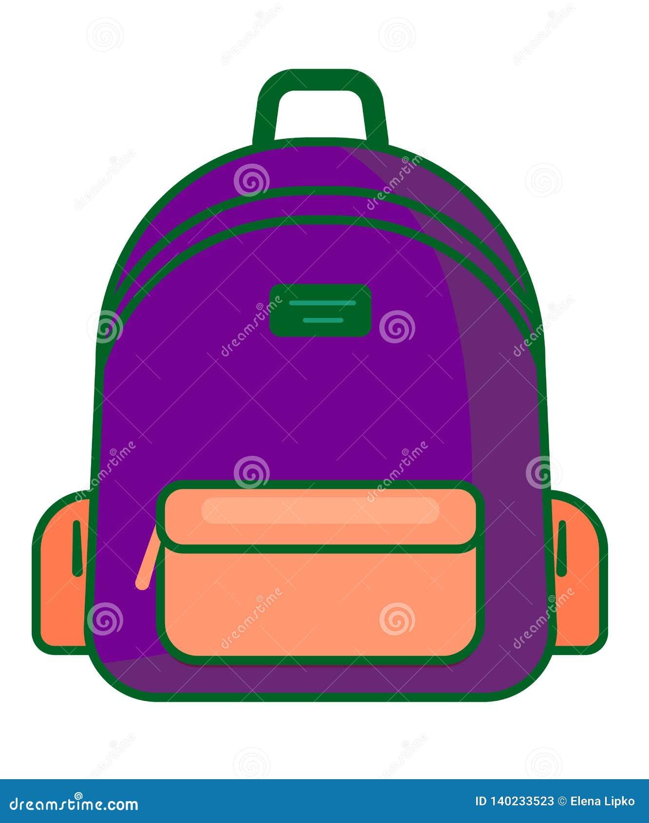 Icône de sac à dos - symbole d école de vecteur - icône de voyage