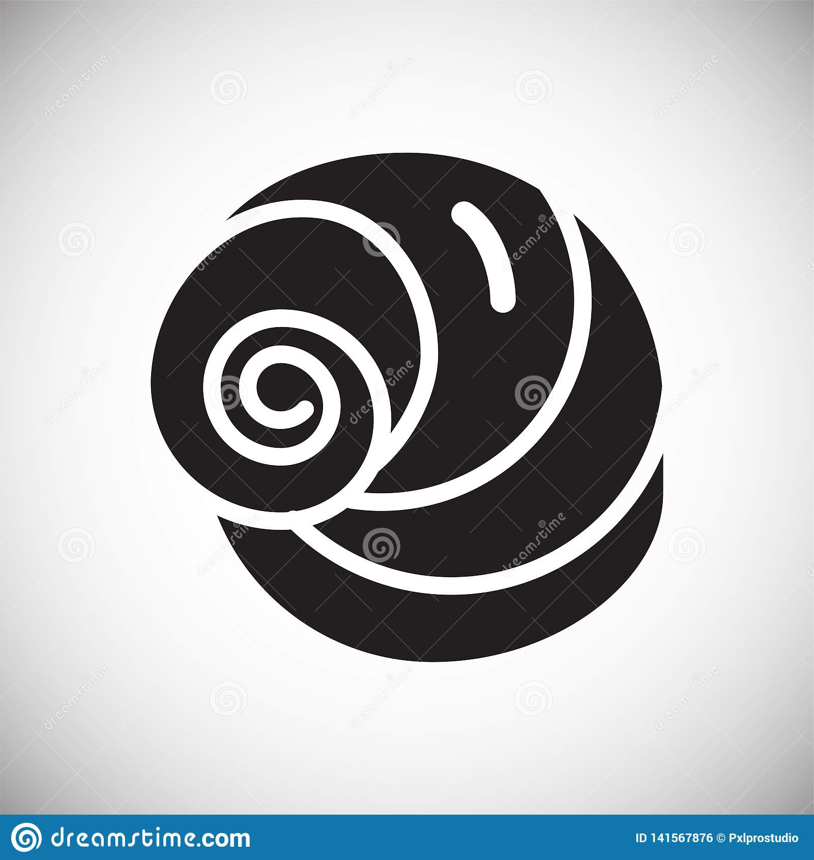 Icône de Shell de mer sur le fond blanc pour le graphique et la conception web Signe simple de vecteur Symbole de concept d Inter