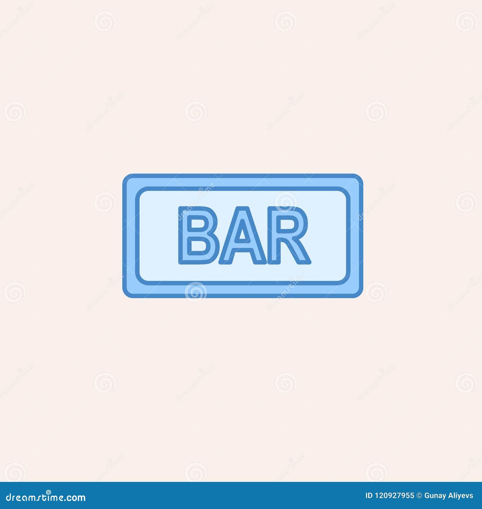 Icône de signe de barre Élément d icône de casino pour les apps mobiles de concept et de Web L icône de signe de barre d ensemble