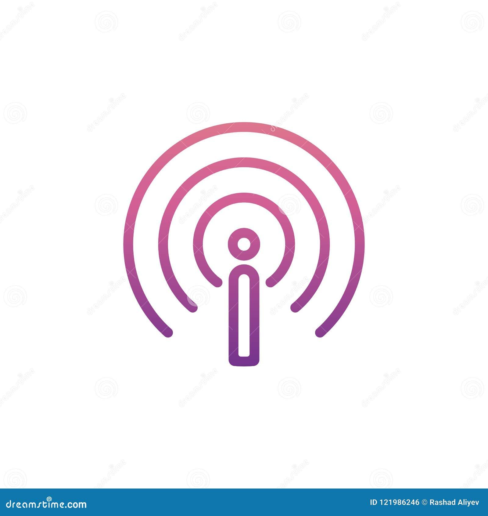Icône de signe d antenne en style de Nolan