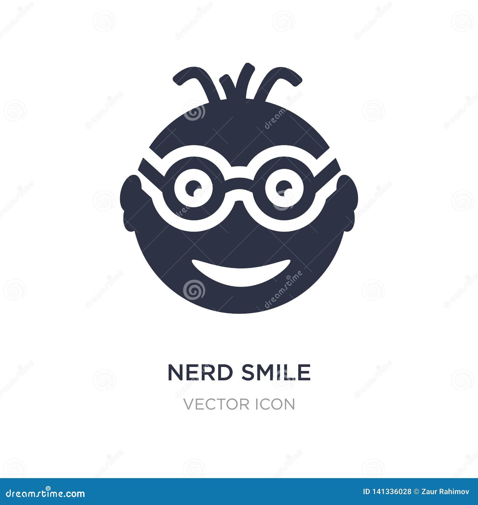 Icône de sourire de ballot sur le fond blanc Illustration simple d élément de concept d UI