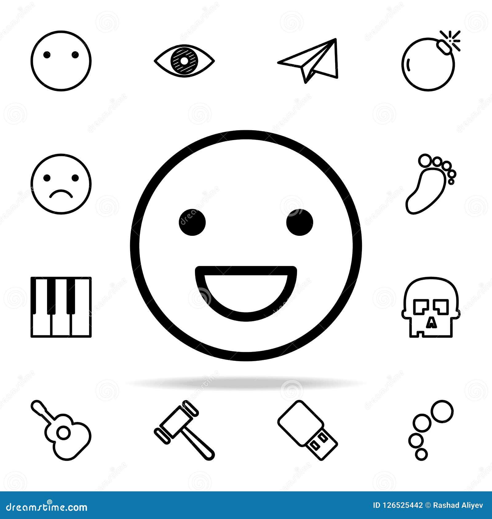 Icône de sourire d émotion ensemble universel d icônes de Web pour le Web et le mobile