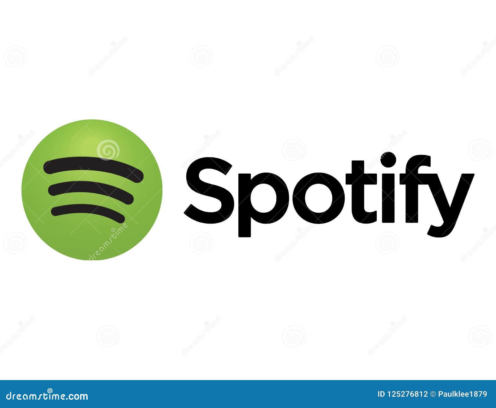 Icone De Spotify Imprimee Sur Le Livre Blanc Photographie