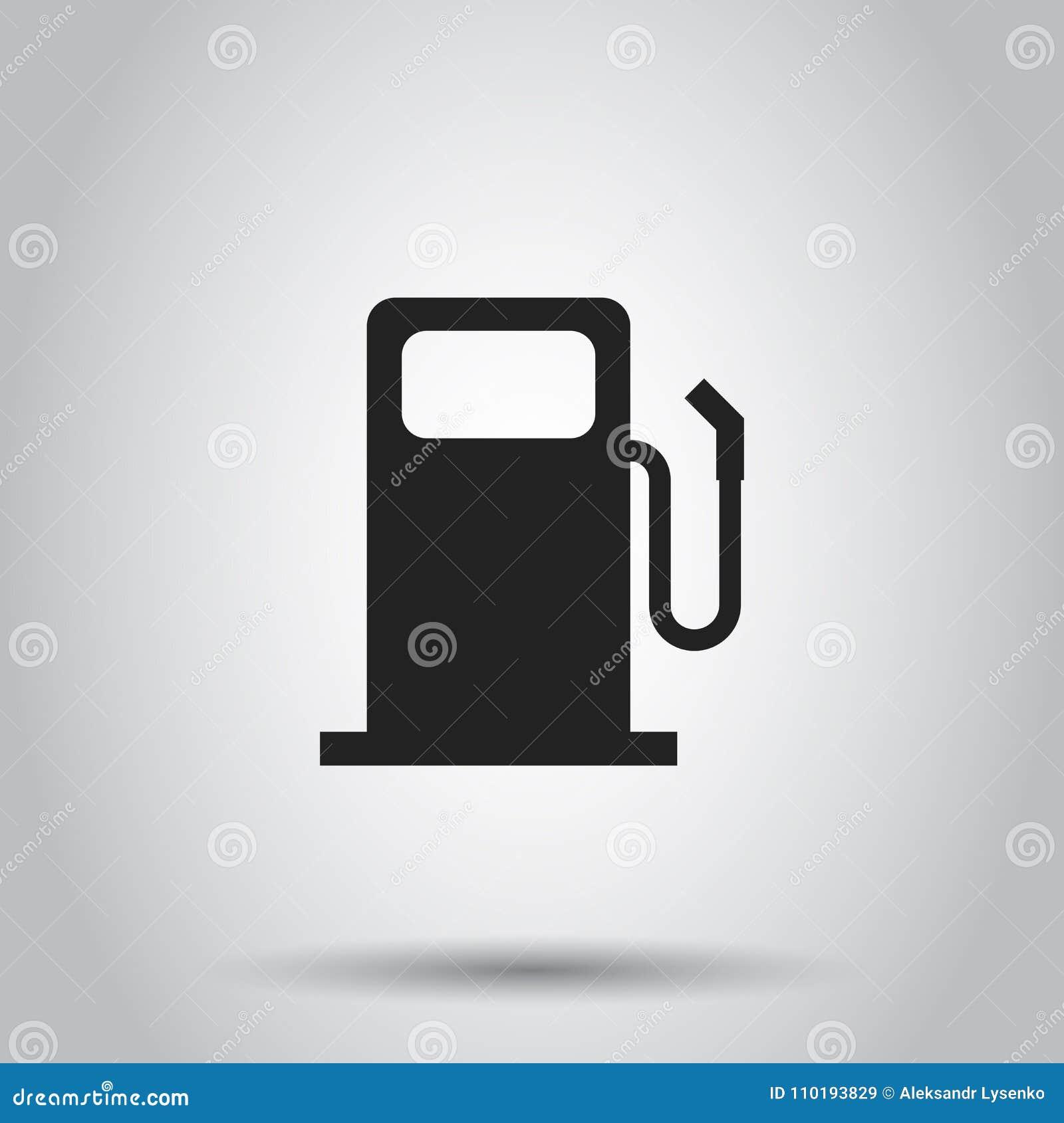 Icône de station de gaz combustible Illustration de vecteur sur le backgroun d isolement