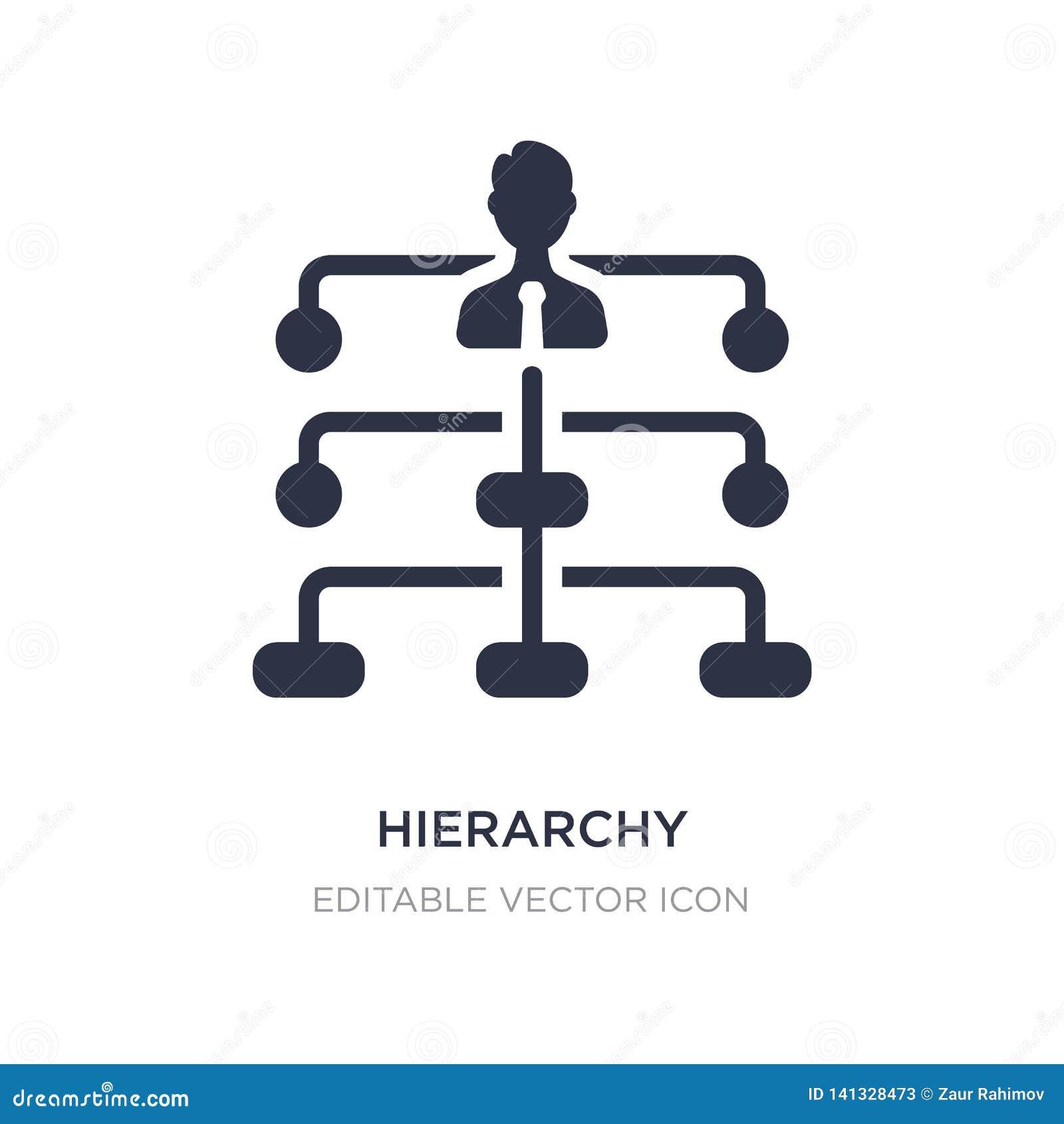 Icône de structure de hiérarchie sur le fond blanc Illustration simple d élément de concept d affaires