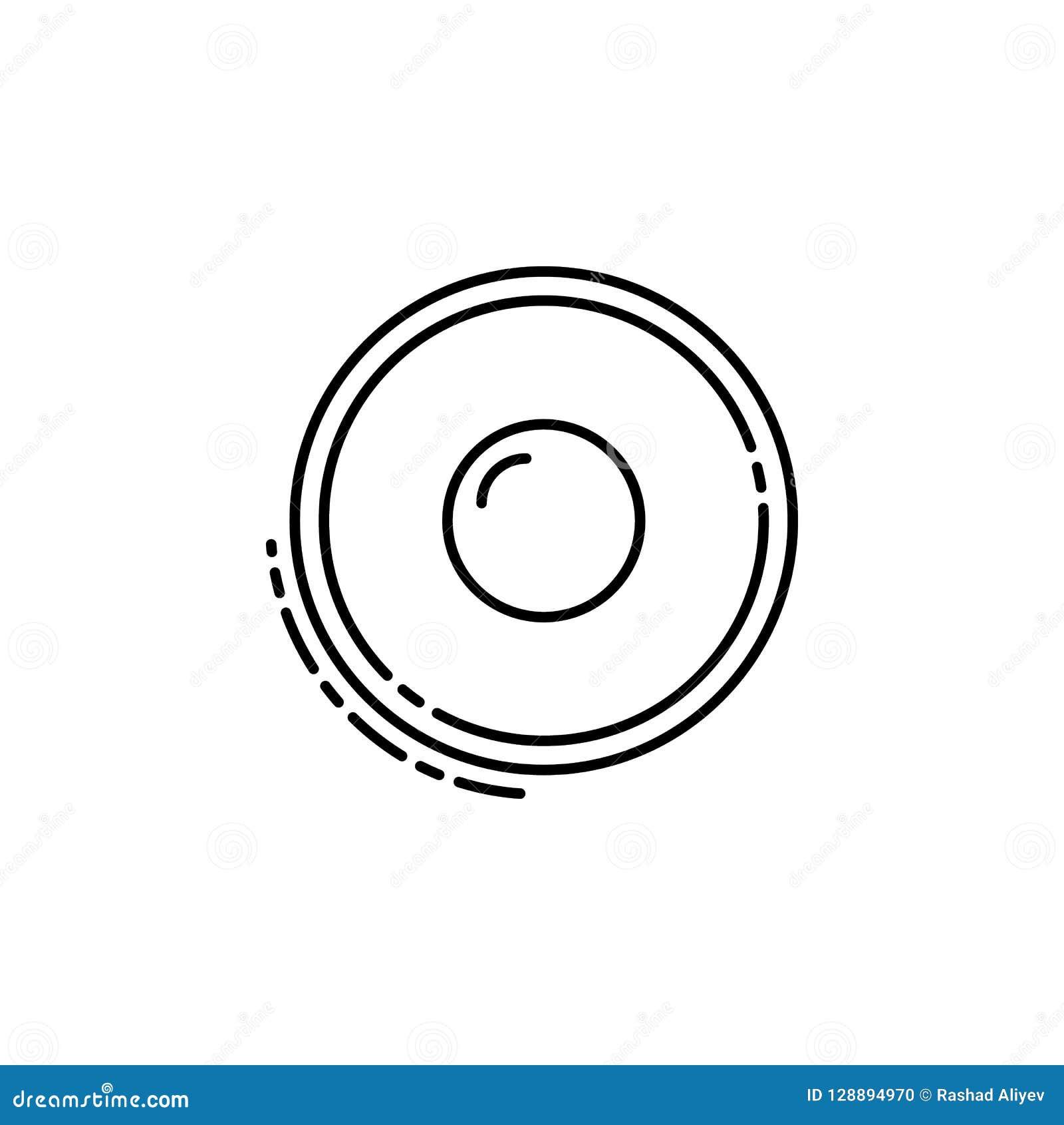 Icône de sufganiyah Élément d icône juive pour les apps mobiles de concept et de Web La ligne mince icône de sufganiyah peut être