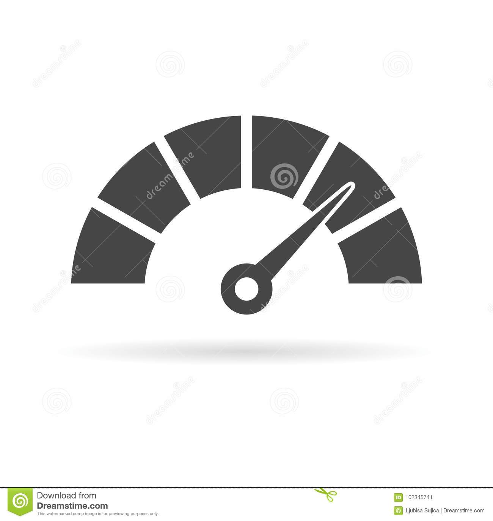 Icône de tachymètre ou de mesure