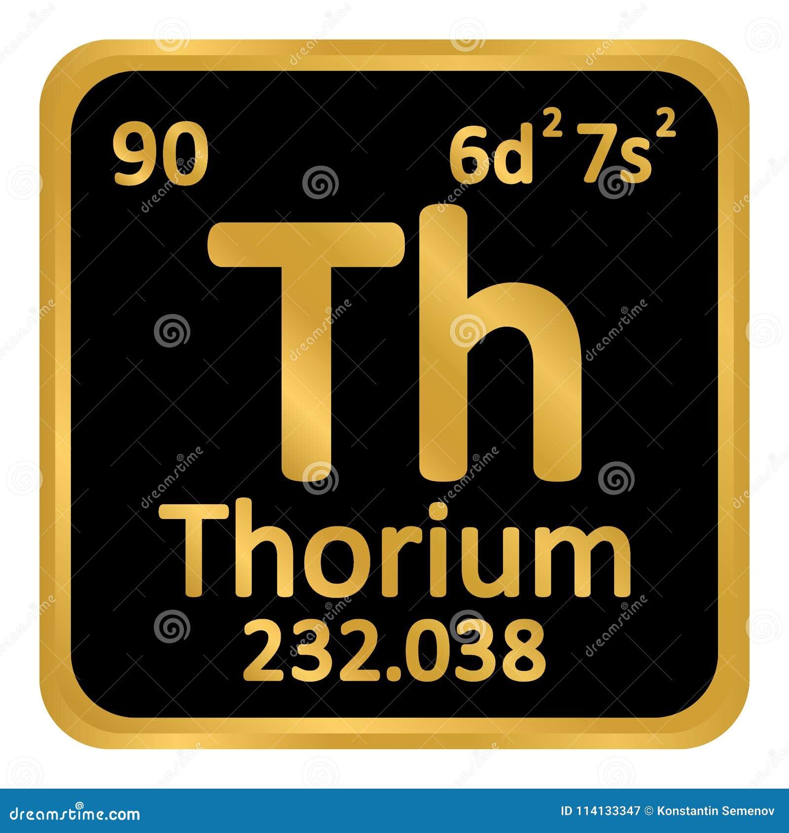 Icône de thorium d élément de table périodique