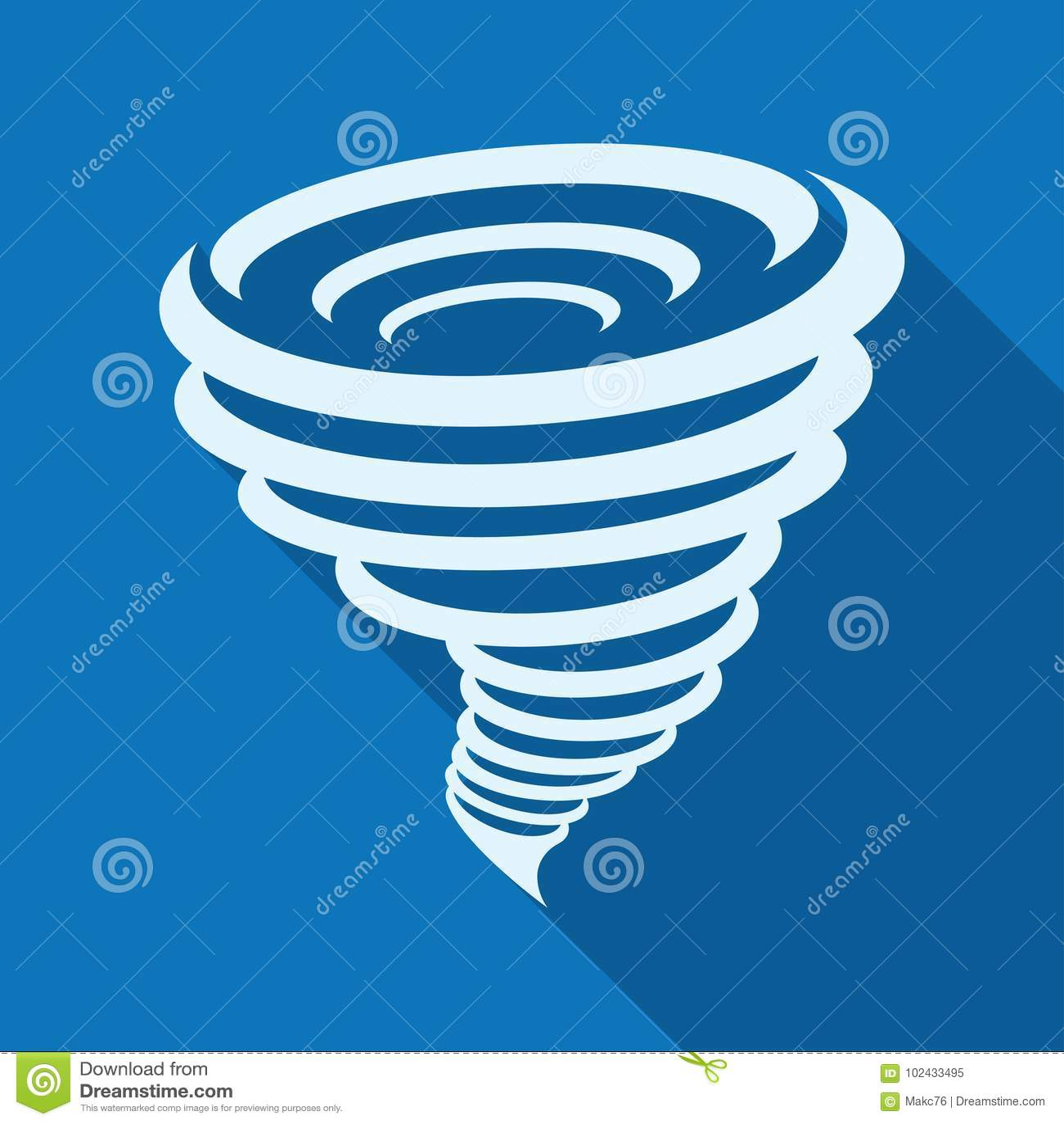Icône de tornade, illustration de vecteur