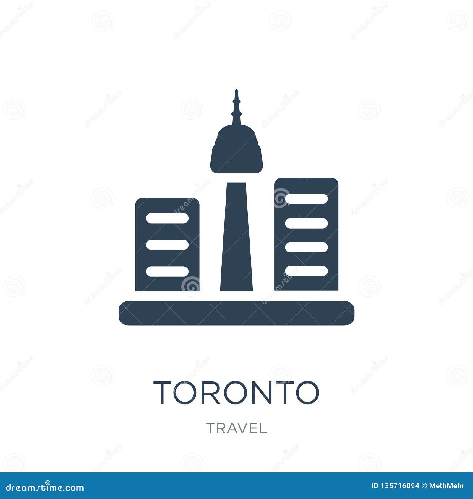 Icône de Toronto dans le style à la mode de conception icône de Toronto d isolement sur le fond blanc symbole plat simple et mode