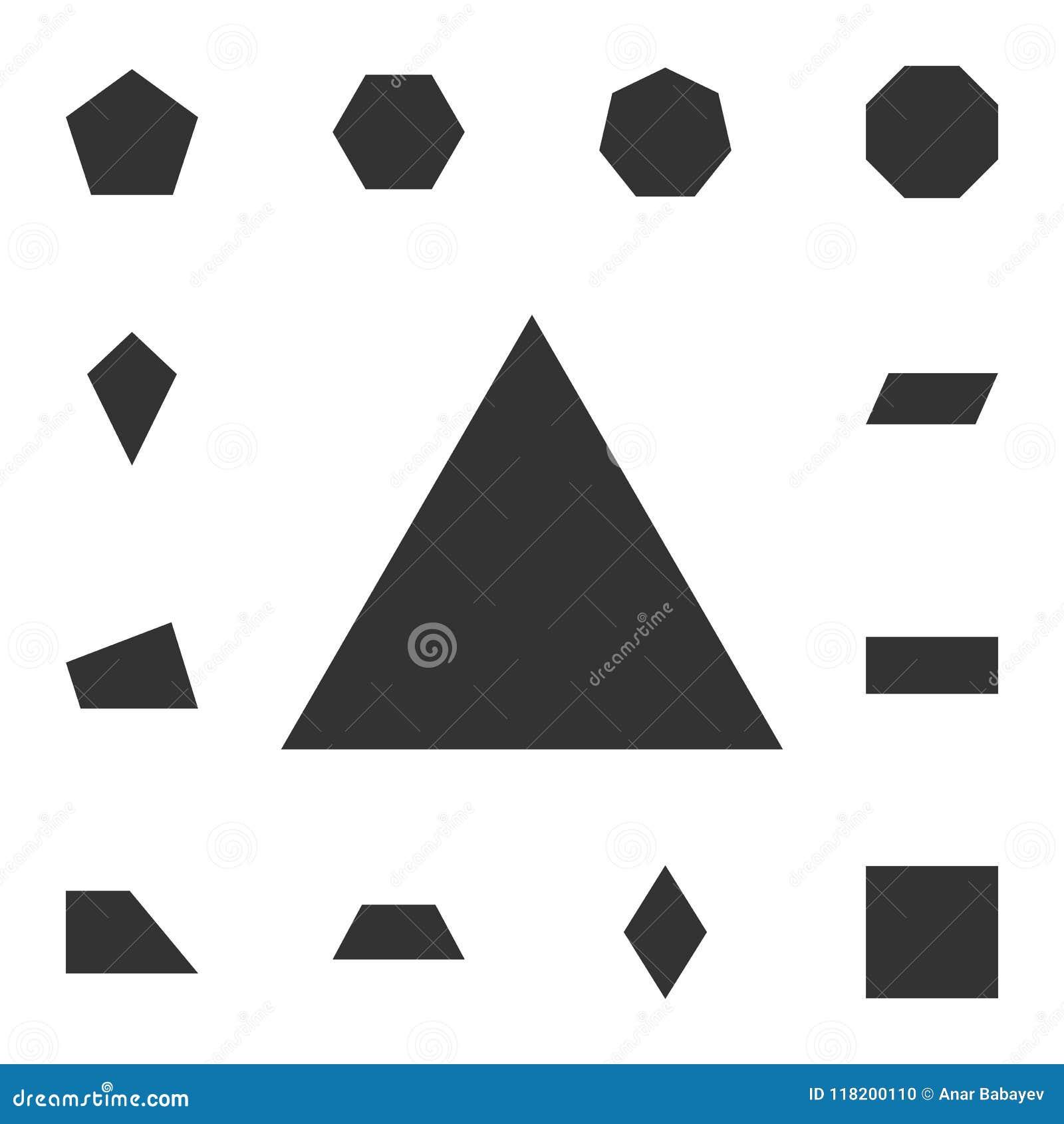 Icône de triangle équilaterale Ensemble détaillé de chiffre géométrique Conception graphique de la meilleure qualité Une des icôn