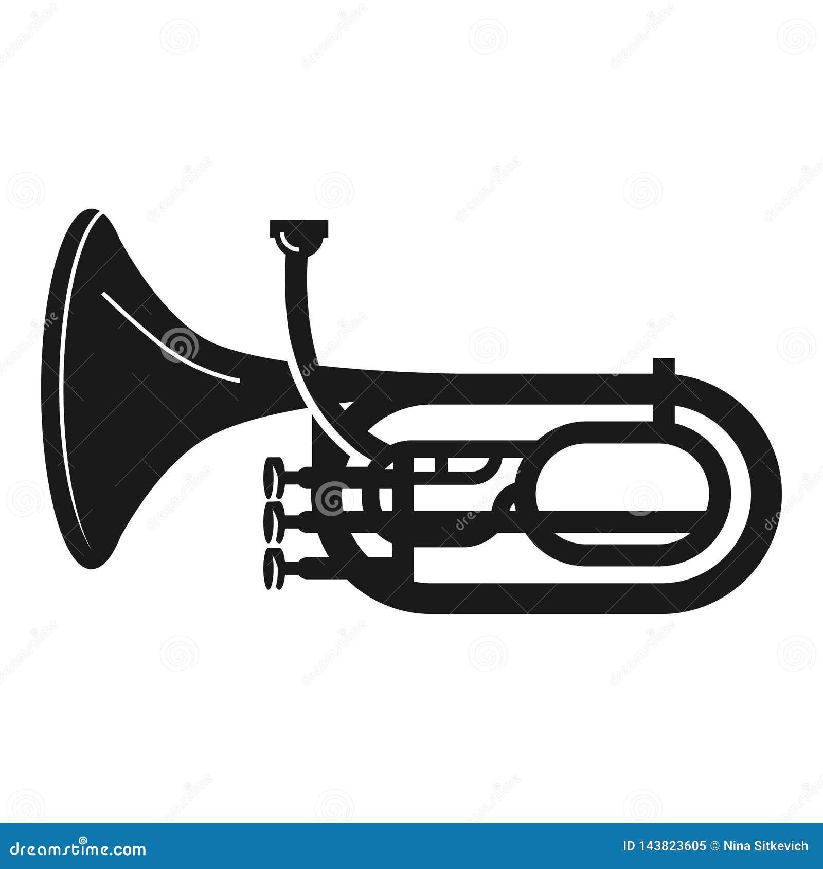 Icône de trompette d orchestre, style simple