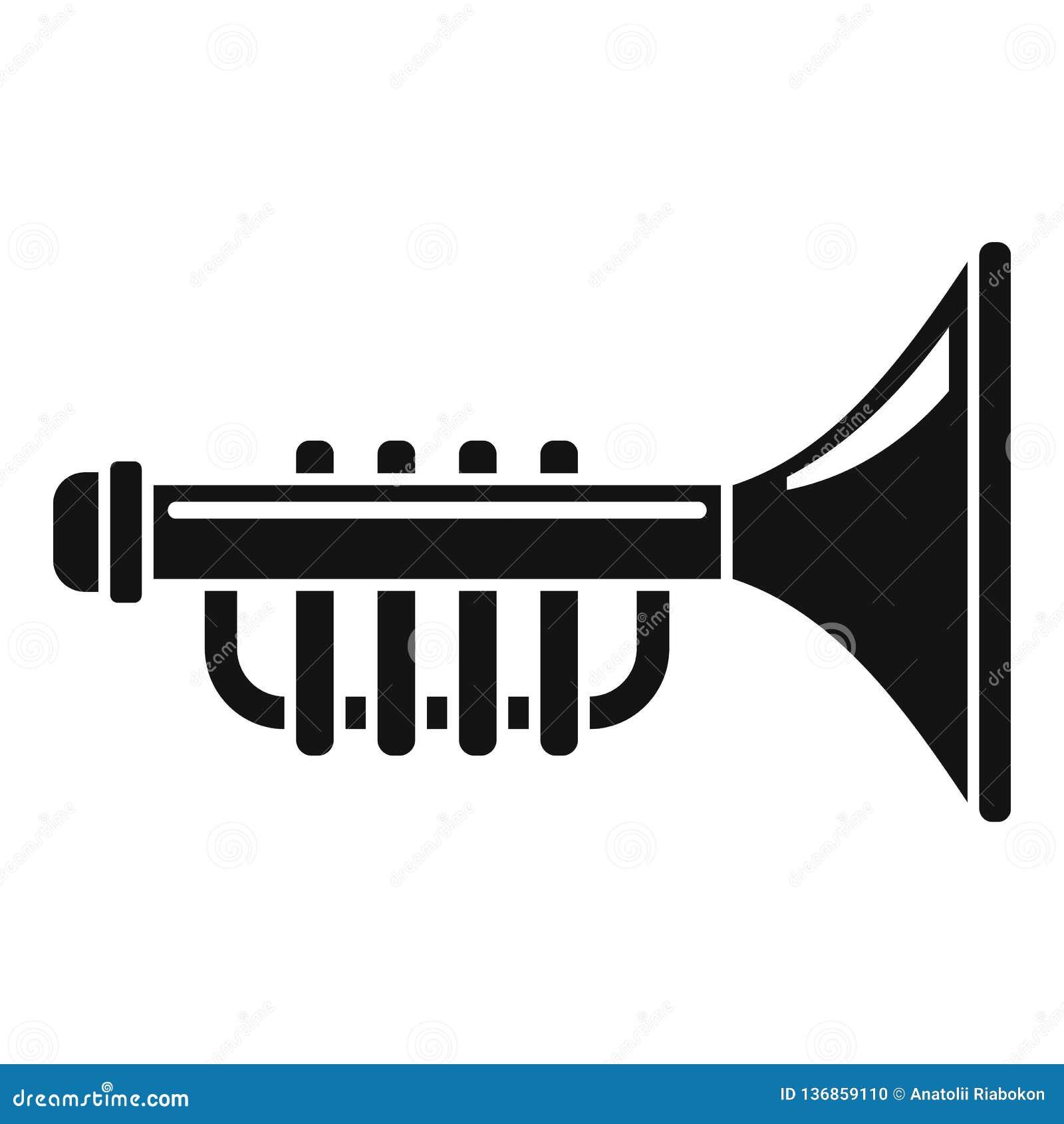 Icône de trompette de jouet, style simple