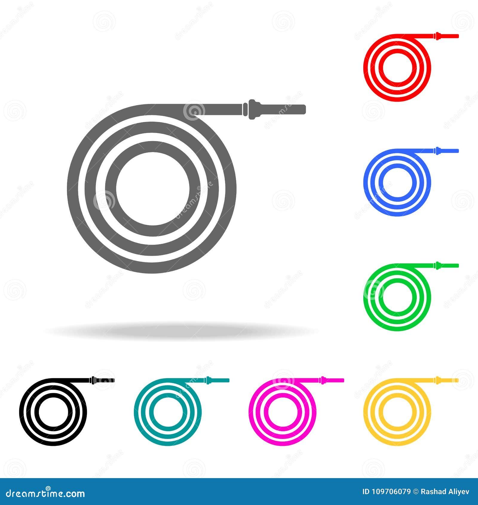 Icône de tuyau d incendie Icônes colorées multi de sapeurs-pompiers d élément pour les apps mobiles de concept et de Web Icône po