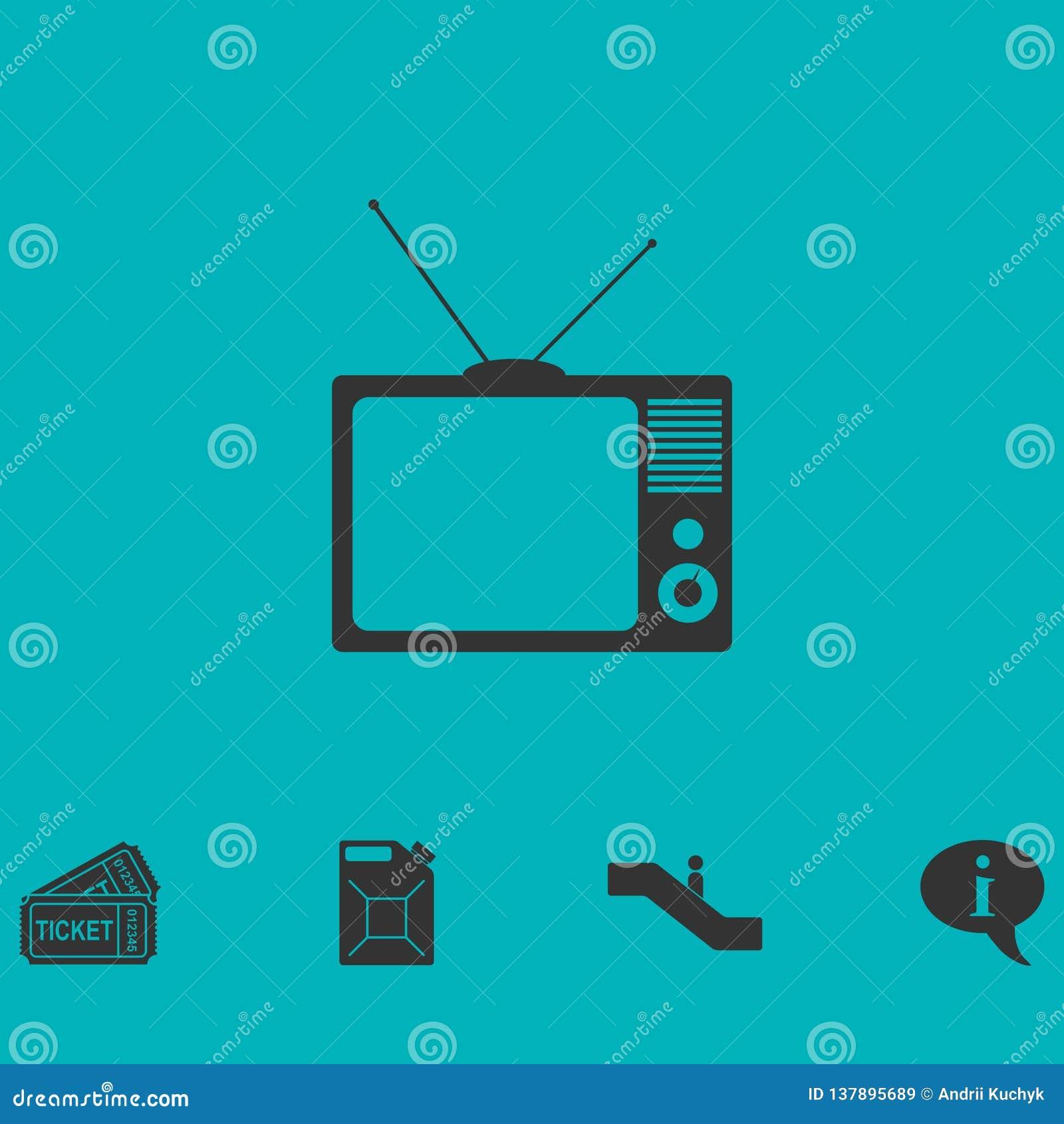 Icône de TV plate