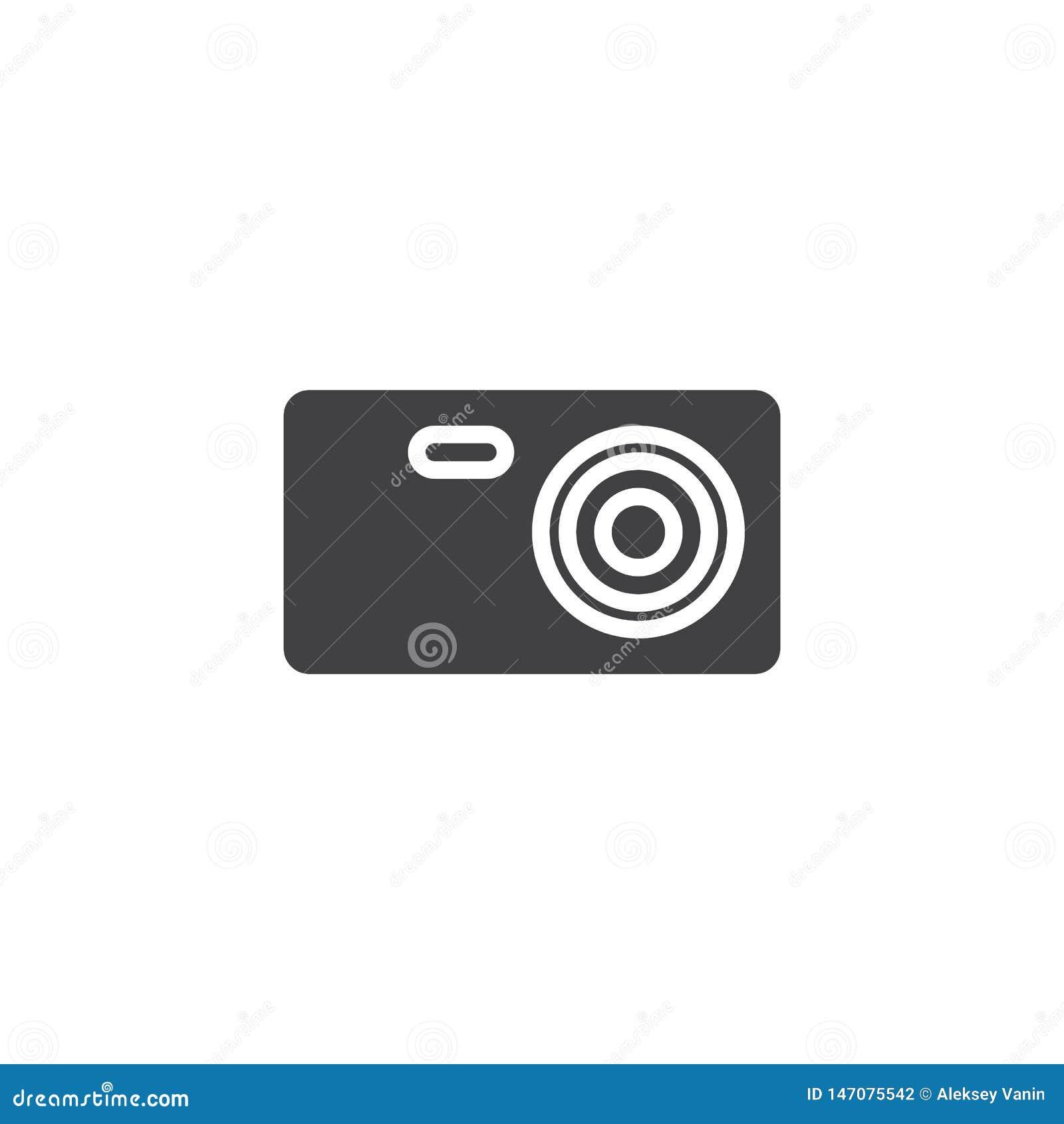 Icône de vecteur de caméra de voyage
