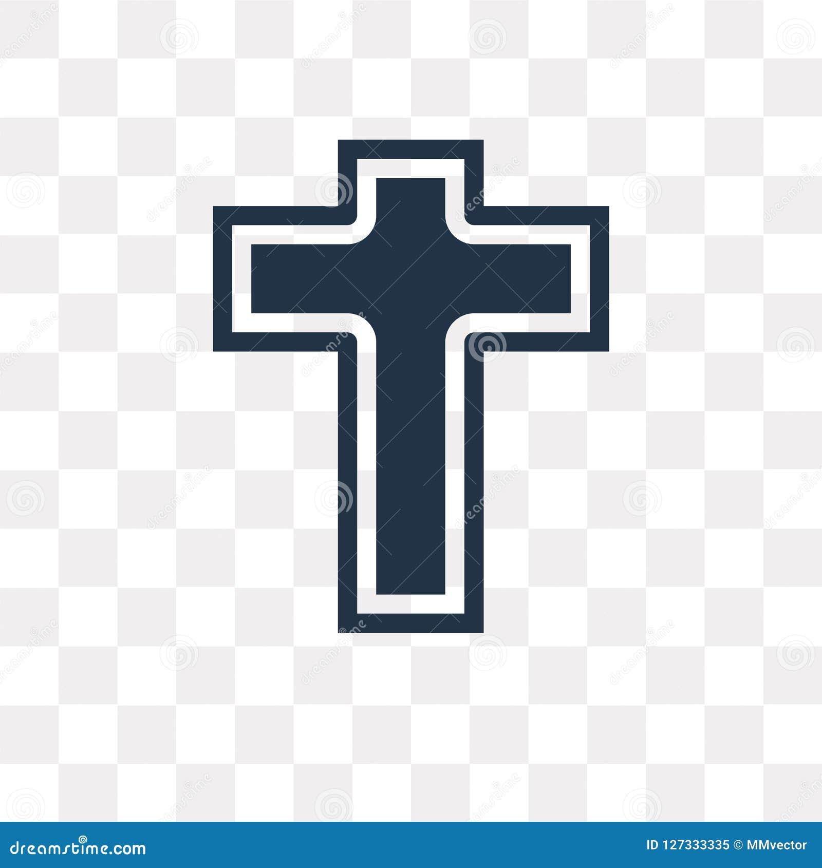 Icône de vecteur de catholicisme d isolement sur le fond transparent, cathédrale