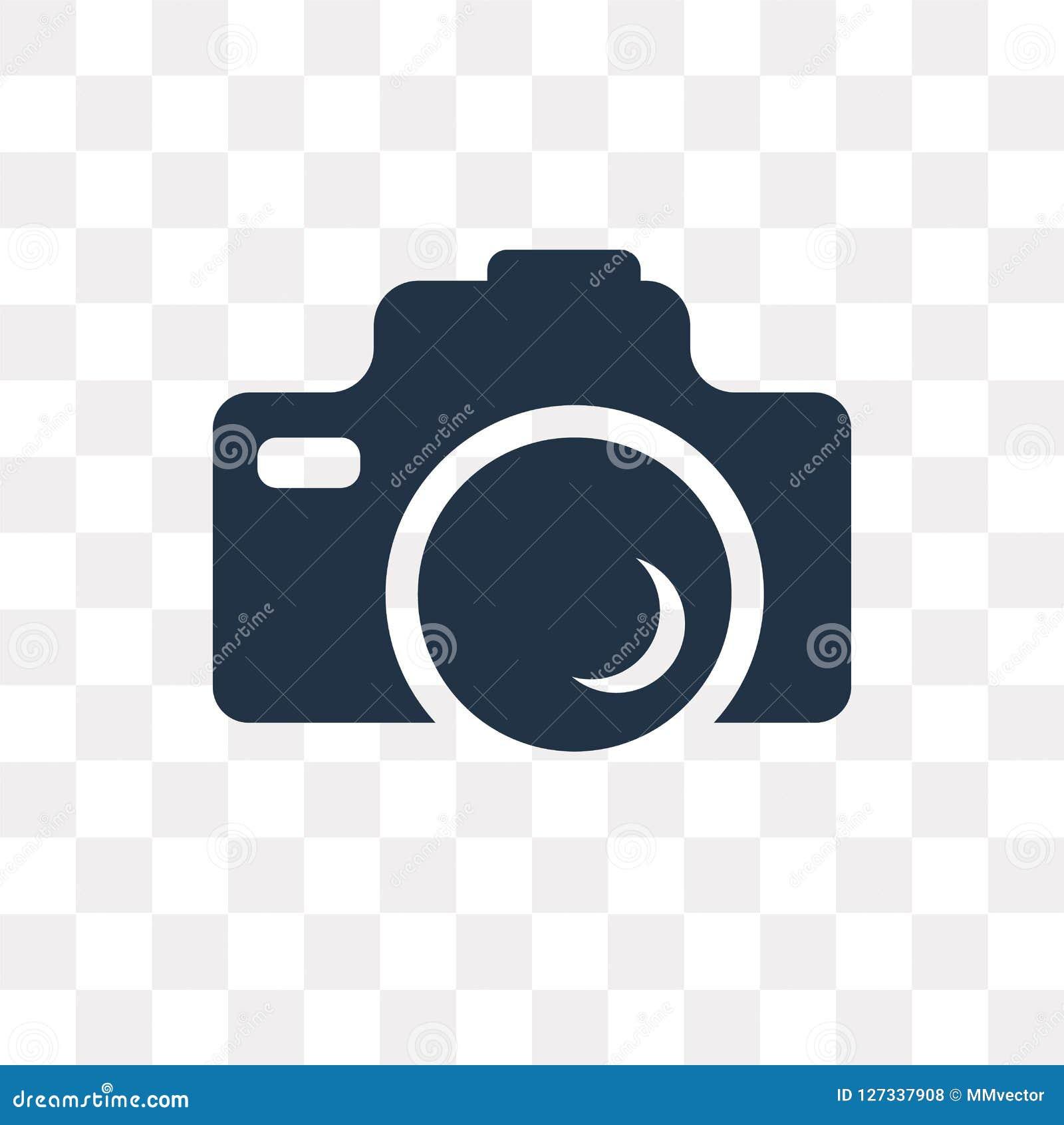 Icône de vecteur d appareil-photo de photo d isolement sur le fond transparent, Pho