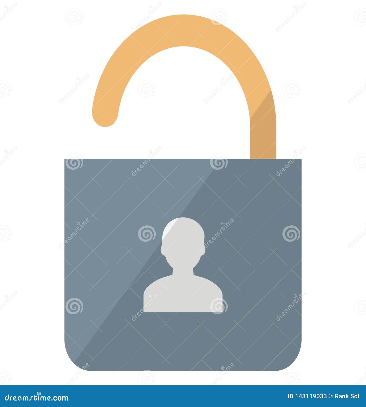 Icône de vecteur d authentification d Access qui peut facilement modifier ou éditer
