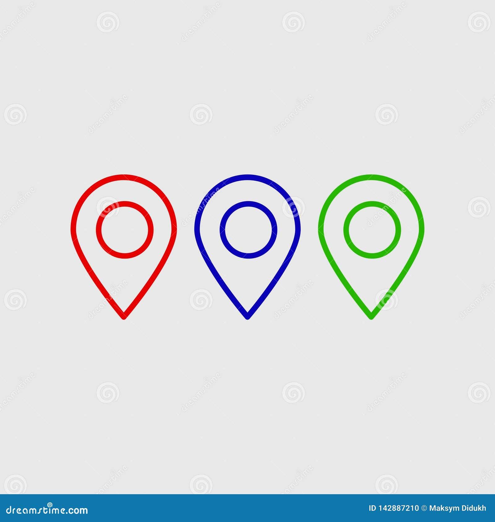 Icône de vecteur d emplacement Placez le symbole Le pictogramme de GPS, signe plat de vecteur a isolé Illustration simple de vect