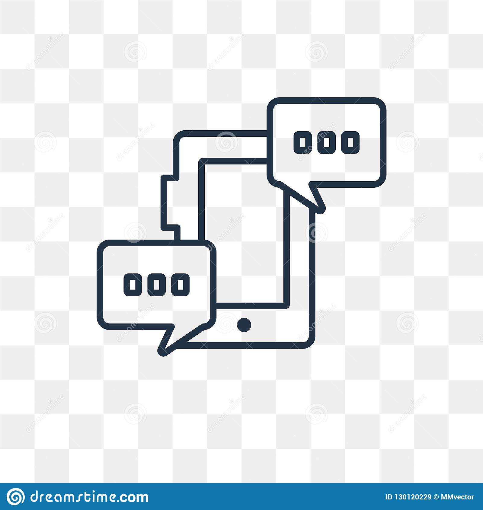 Icône de vecteur d entrevue d isolement sur le fond transparent, linéaire