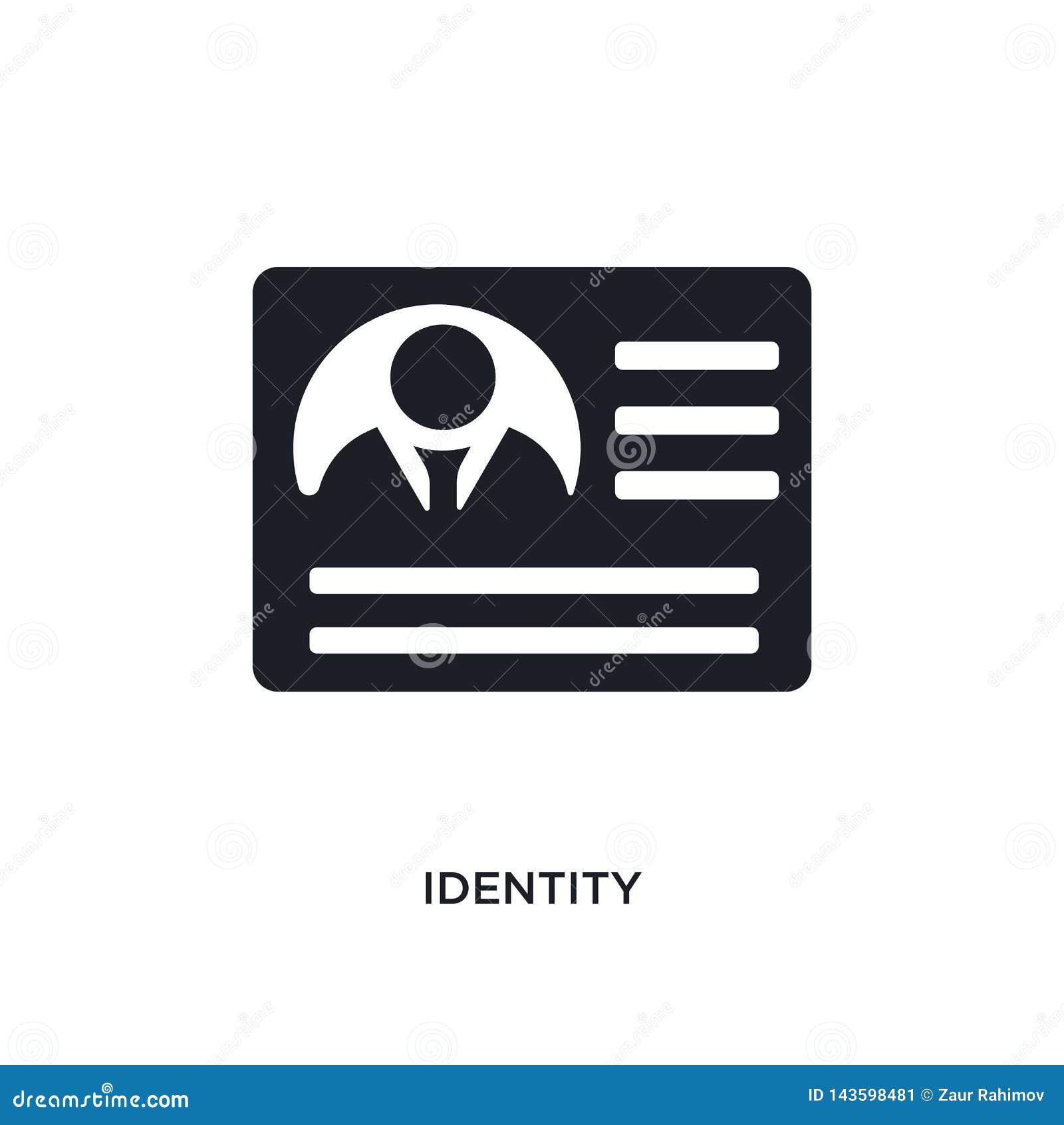 Icône de vecteur d isolement par identité noire illustration simple d élément des icônes de démarrage de vecteur de concept symbo