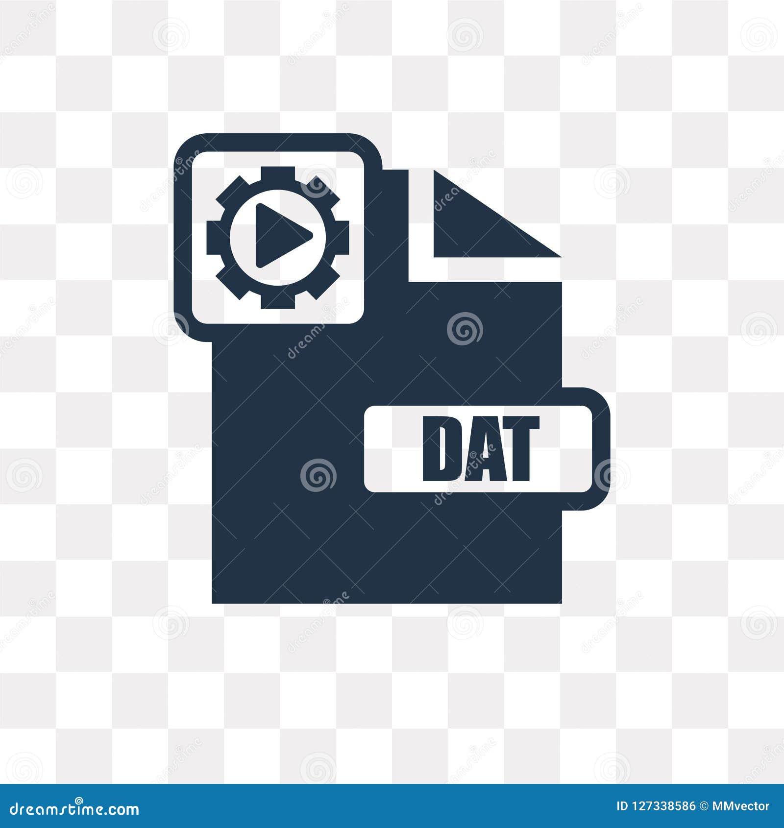 Icône de vecteur de Dat d isolement sur le fond transparent, transpa de Dat
