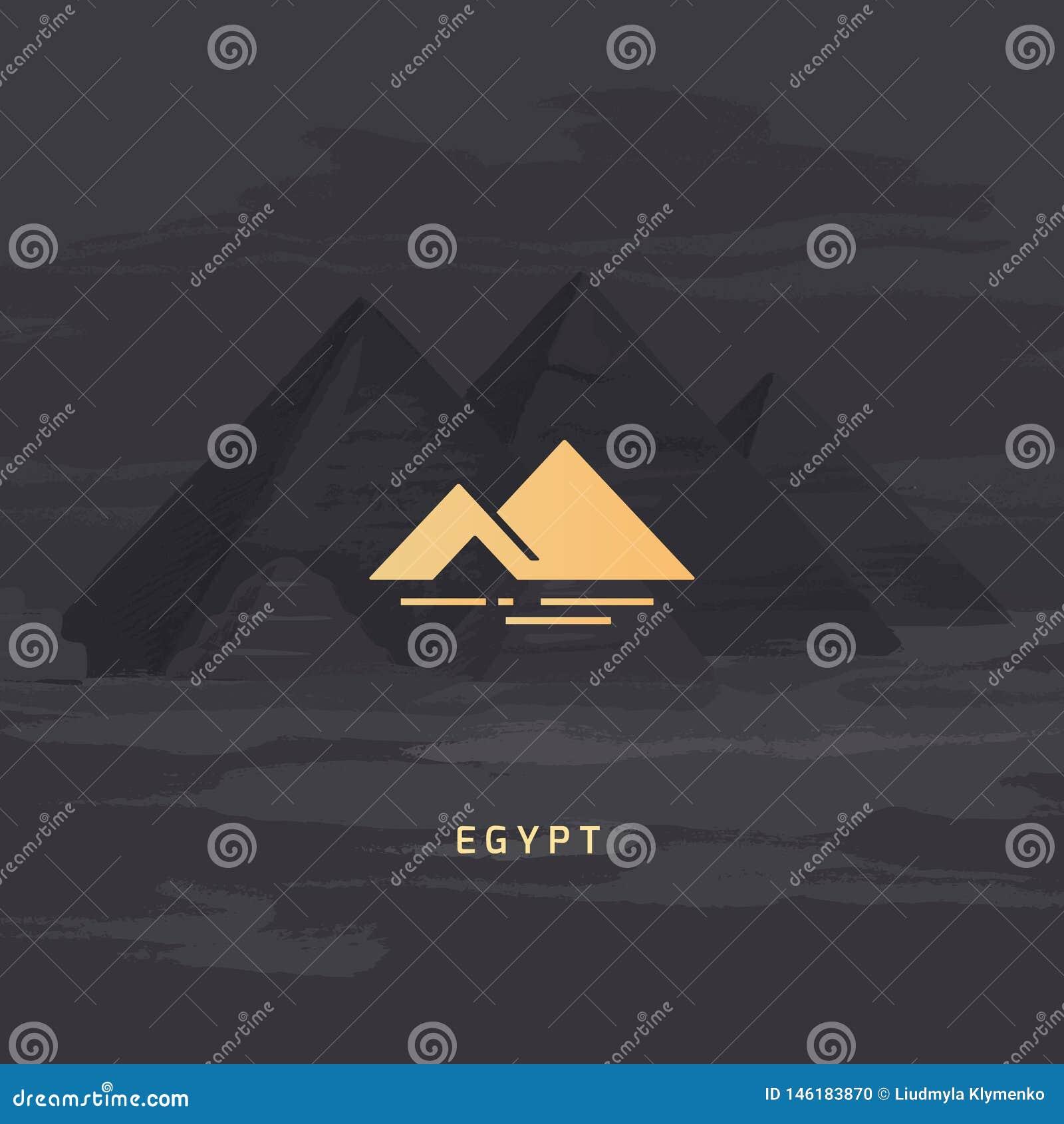 Icône de vecteur du symbole le plus célèbre de l Egypte - la pyramide