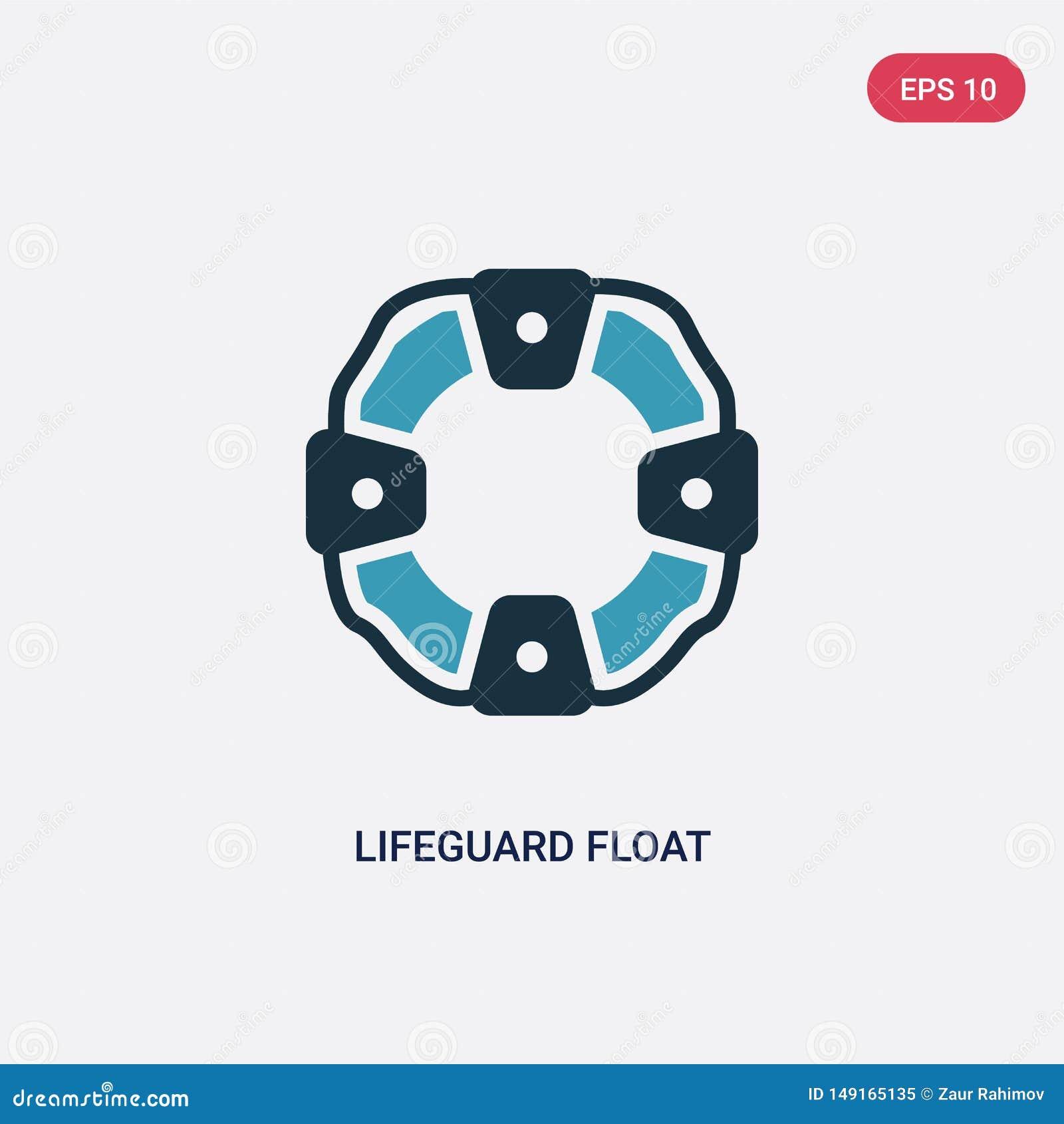 Icône de vecteur de flotteur de maître nageur de deux couleurs de concept de sécurité le symbole bleu d isolement de signe de vec