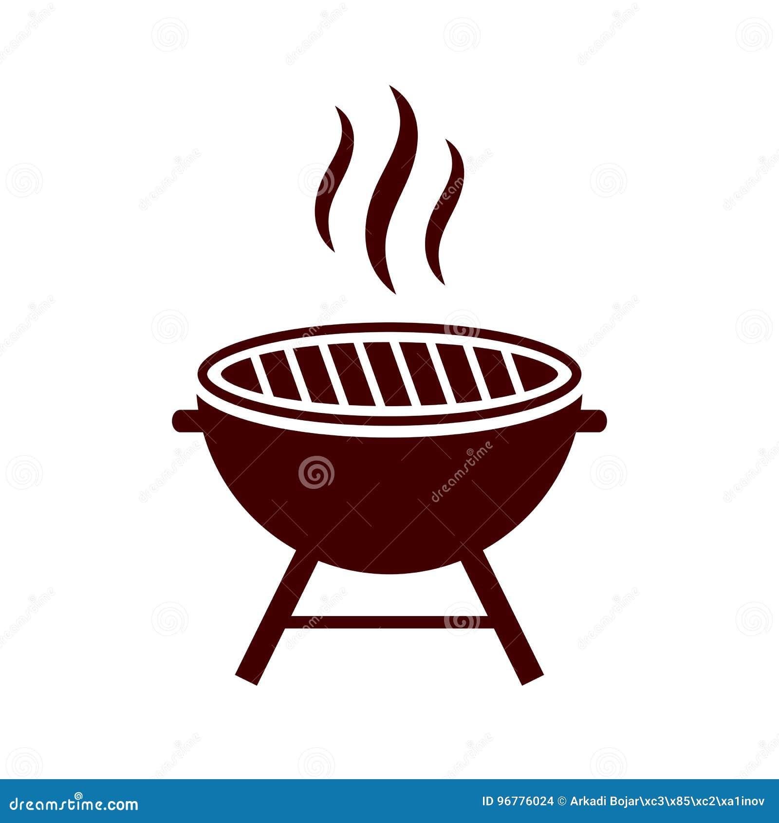 BBQ, Barbecue, Ligne Extérieure Icône De Gril Illustration