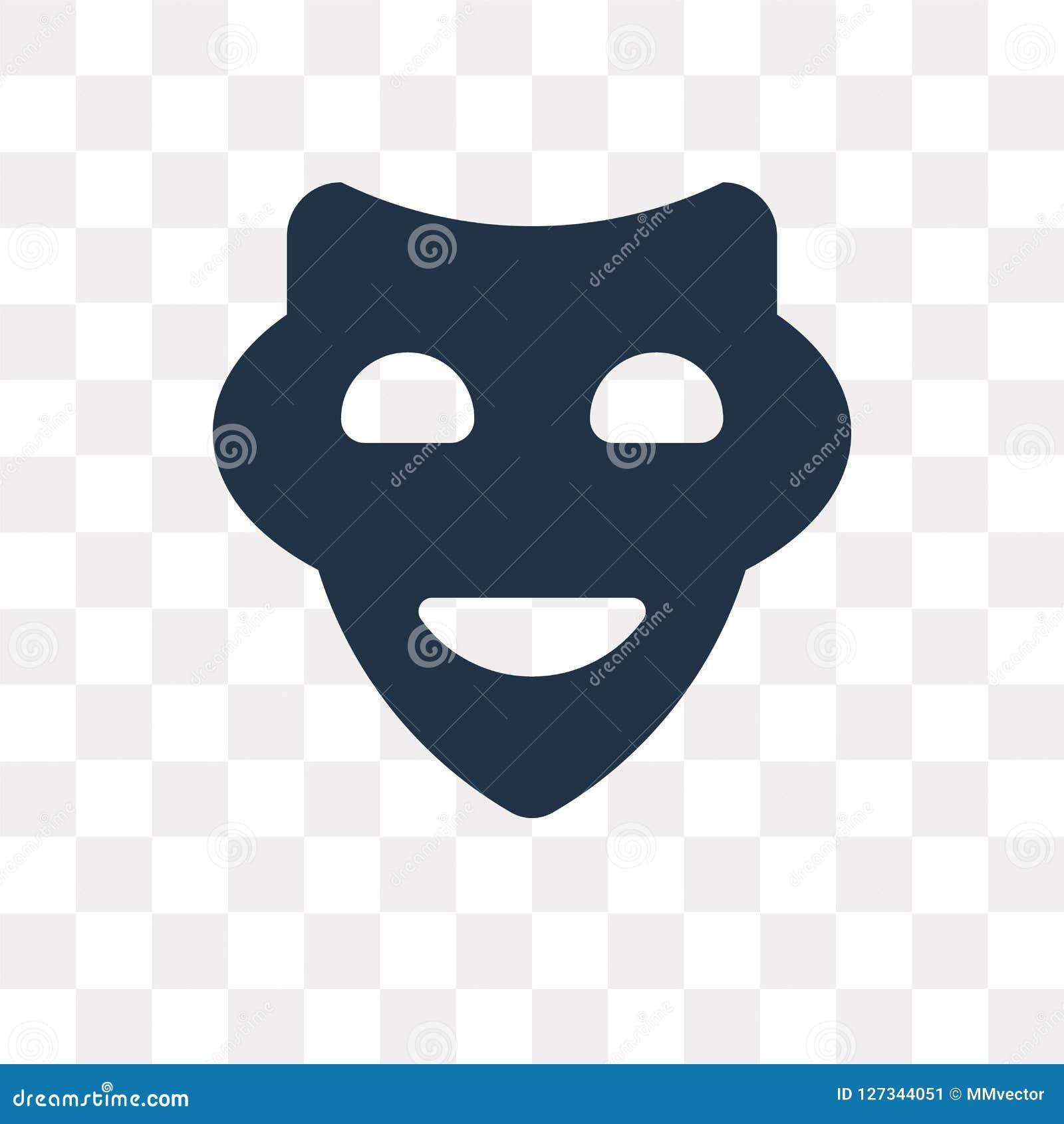 Icône De Vecteur De Masque De Sourire Disolement Sur Le Fond