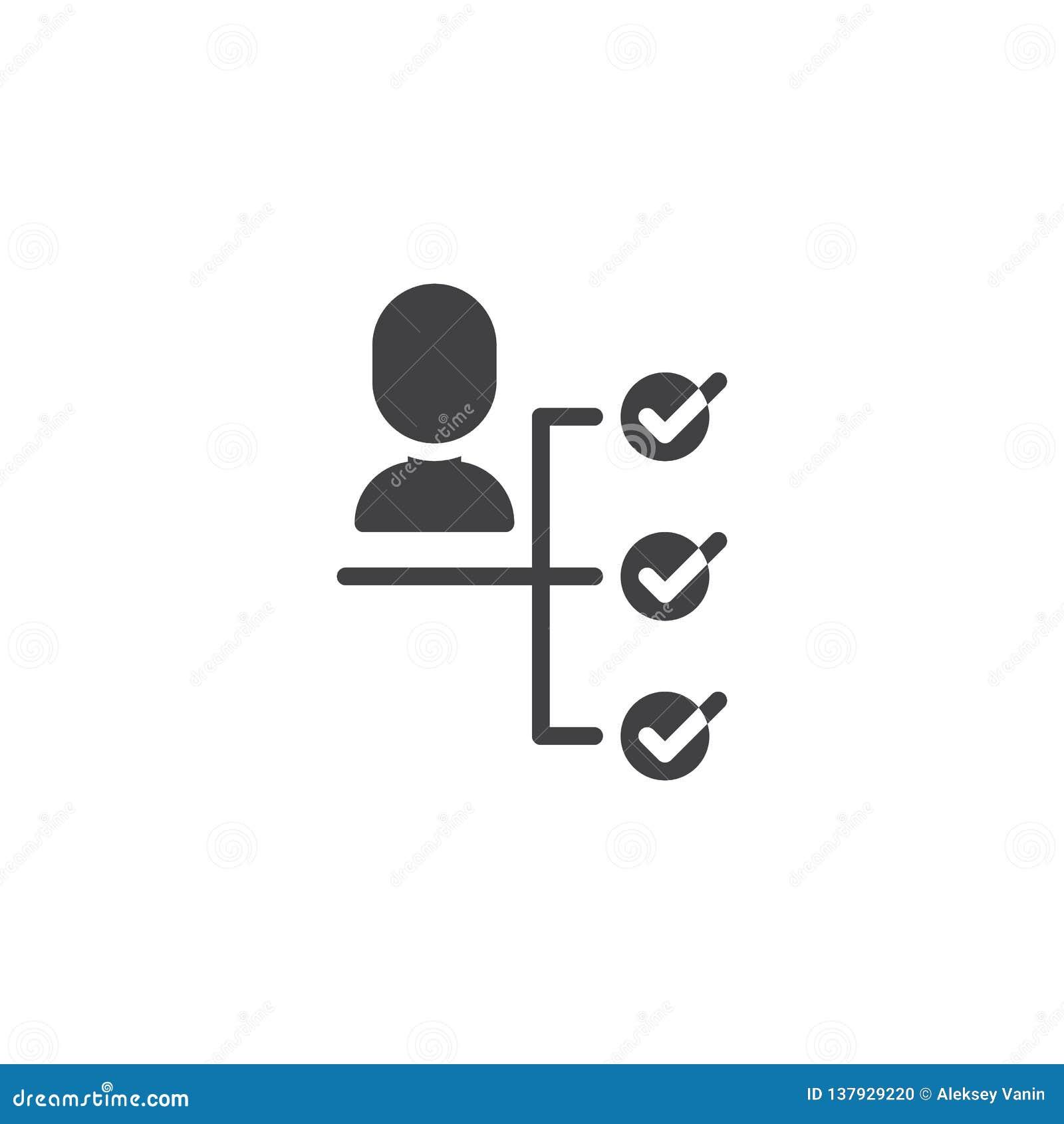Icône de vecteur de prise de décision d affaires