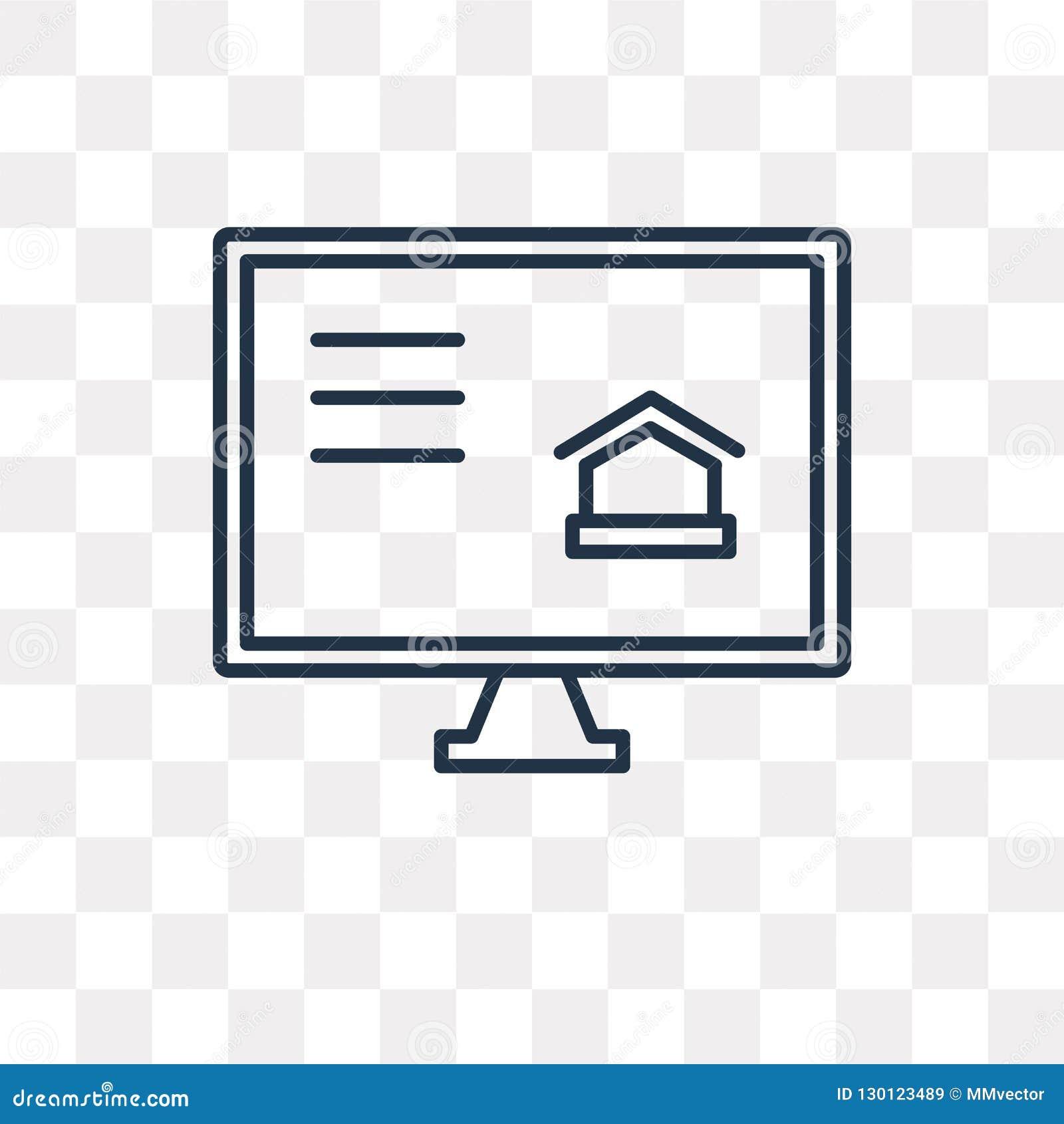 Icône de vecteur de site Web d isolement sur le fond transparent, W linéaire