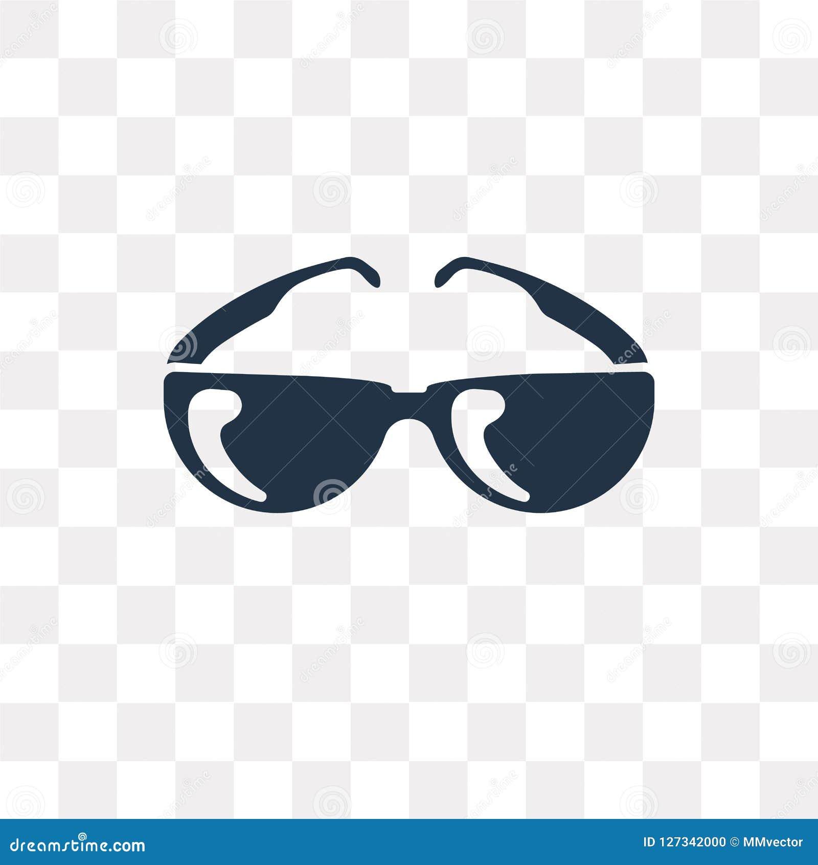 Icône de vecteur de Sunglasses de pilote d isolement sur le fond transparent,