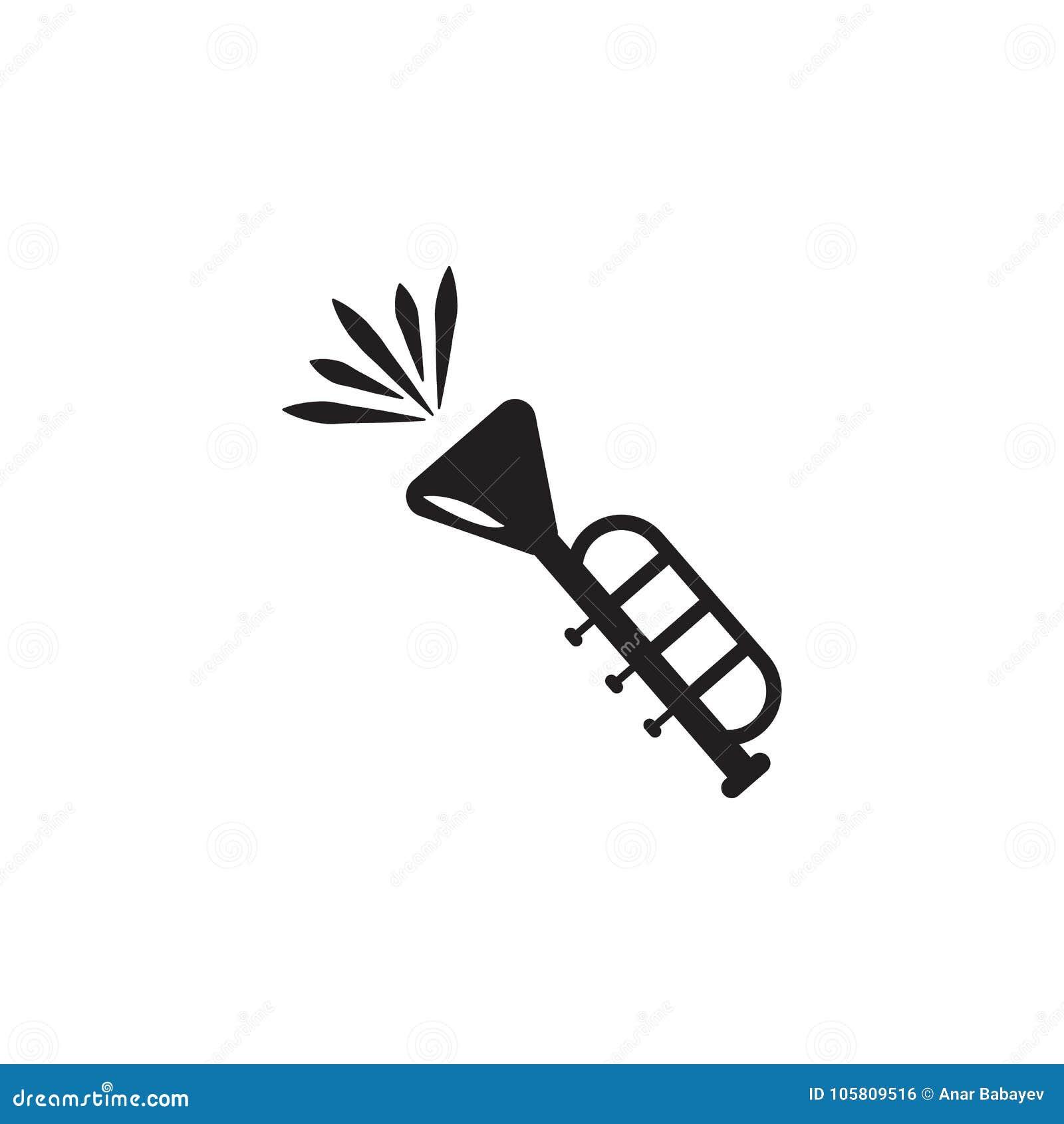 Icône de vecteur de trompette